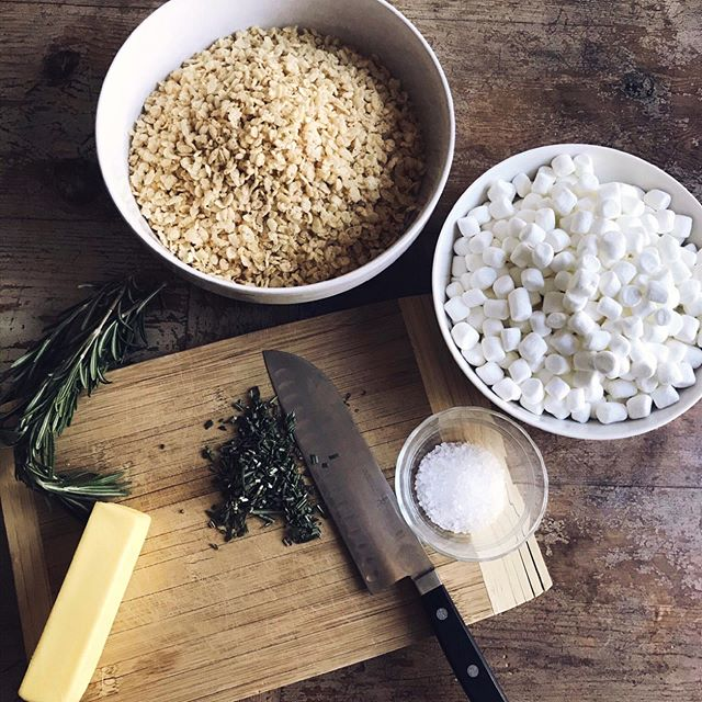 New recipe alert! Rosemary Brown Butter Rice Krispy Treats! This sweet and savory mix are perfect for a delicious fall treat.  You can find the recipe on our site under the blog tab.  Make these and you will have everyone asking you for the recipe! #cceawomen #fall #recipe #treat