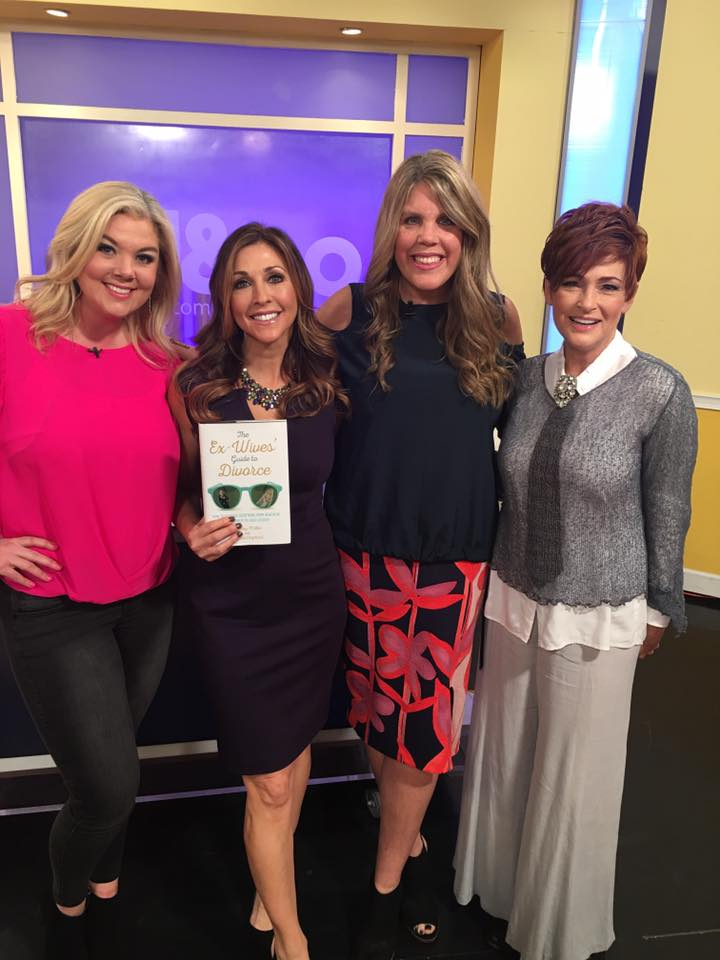 Holiday and Valerie with Atl & Co. host, Christine Pullara and celebrity guest, Carolyn Hennesy