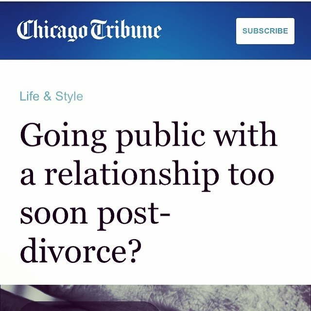 "So honored to be asked to contribute to this incredible article out this past weekend in Chicago Tribune!  When is it okay to take a new relationship post-divorce ""SMP"" {social media public}? Check out the article!!! https://www.google.com/amp/www.chicagotribune.com/lifestyles/sc-fam-taking-a-new-relationship-public-0905-story,amp.html #chicagotribune #exwivesguide #humbled #exwg #marriedtothesameman #postdivorce #divorce #movingon"
