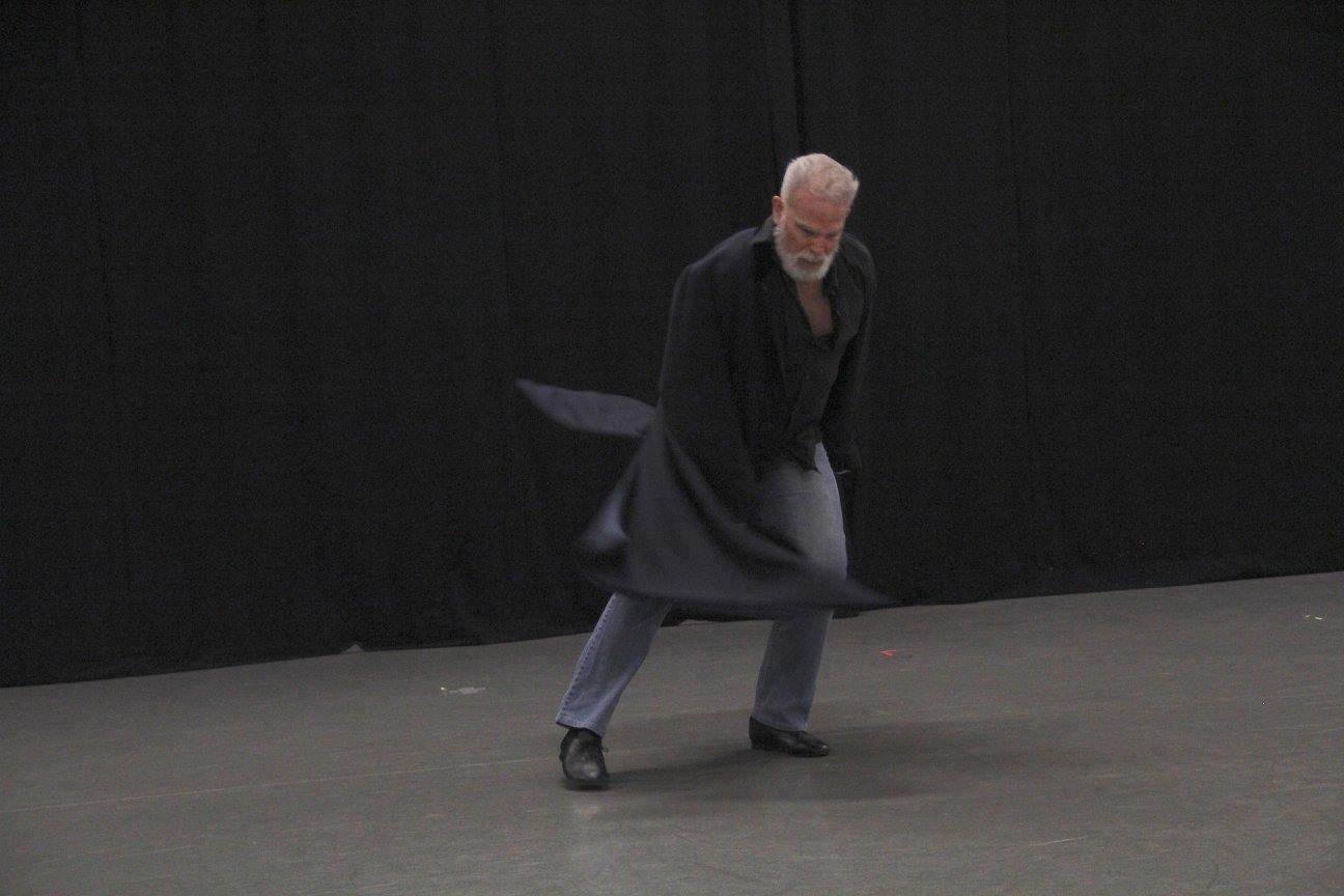 "Ken performing ""hAMLet"" - movement to Shakespeare's Hamlet Monologues at TURF in Santa Barbara, November 2016 (photo: Kathee Miller)"