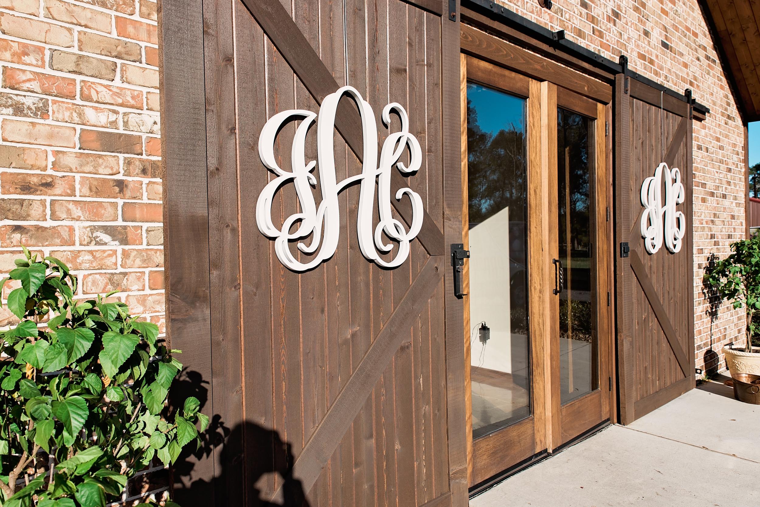 Houston Wedding- Pharris Photography- Texas Photographer- Jess and Colin- Monogram- Rustic Wedding