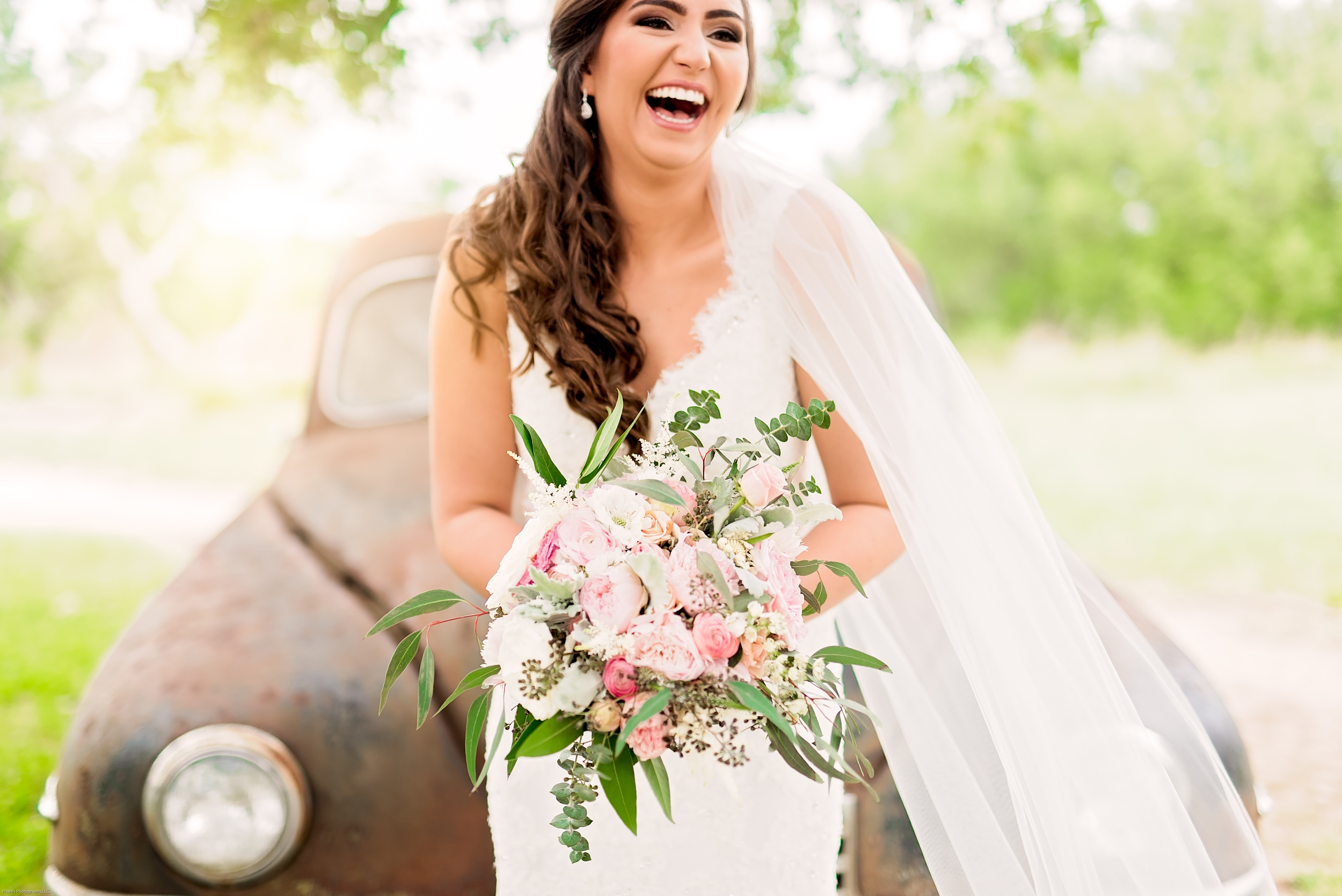 Bridal Session- Carly- Texas Photographer- Pharris Photography- Wedding- Bride- Vintage Car