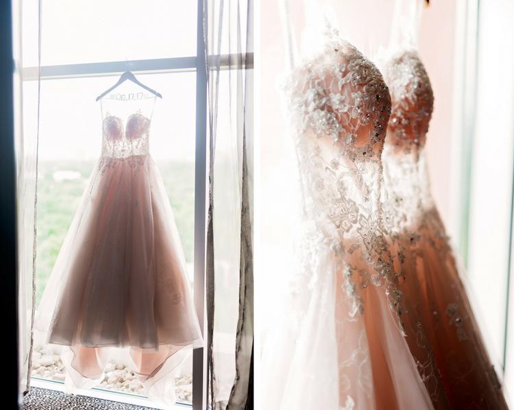 Taylor and Anthony- Pharris Photography- Texas Photographer- Houston Wedding- Ashton Gardens- Jeweled Wedding Dress