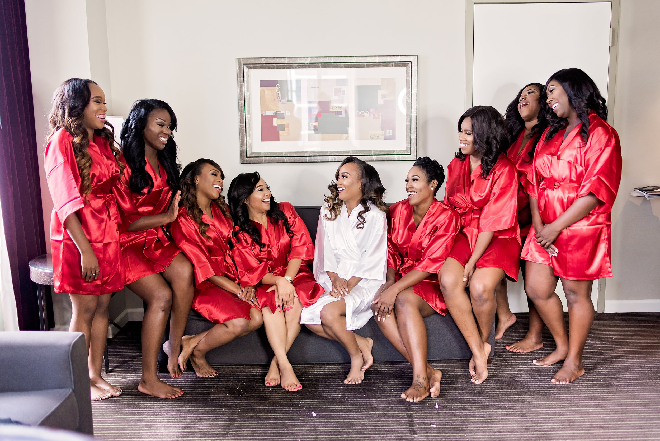 Houston Wedding- Texas Photography- Pharris Photography- Nkechi and Elyx- The Crystal Ballroom- Bridesmaids