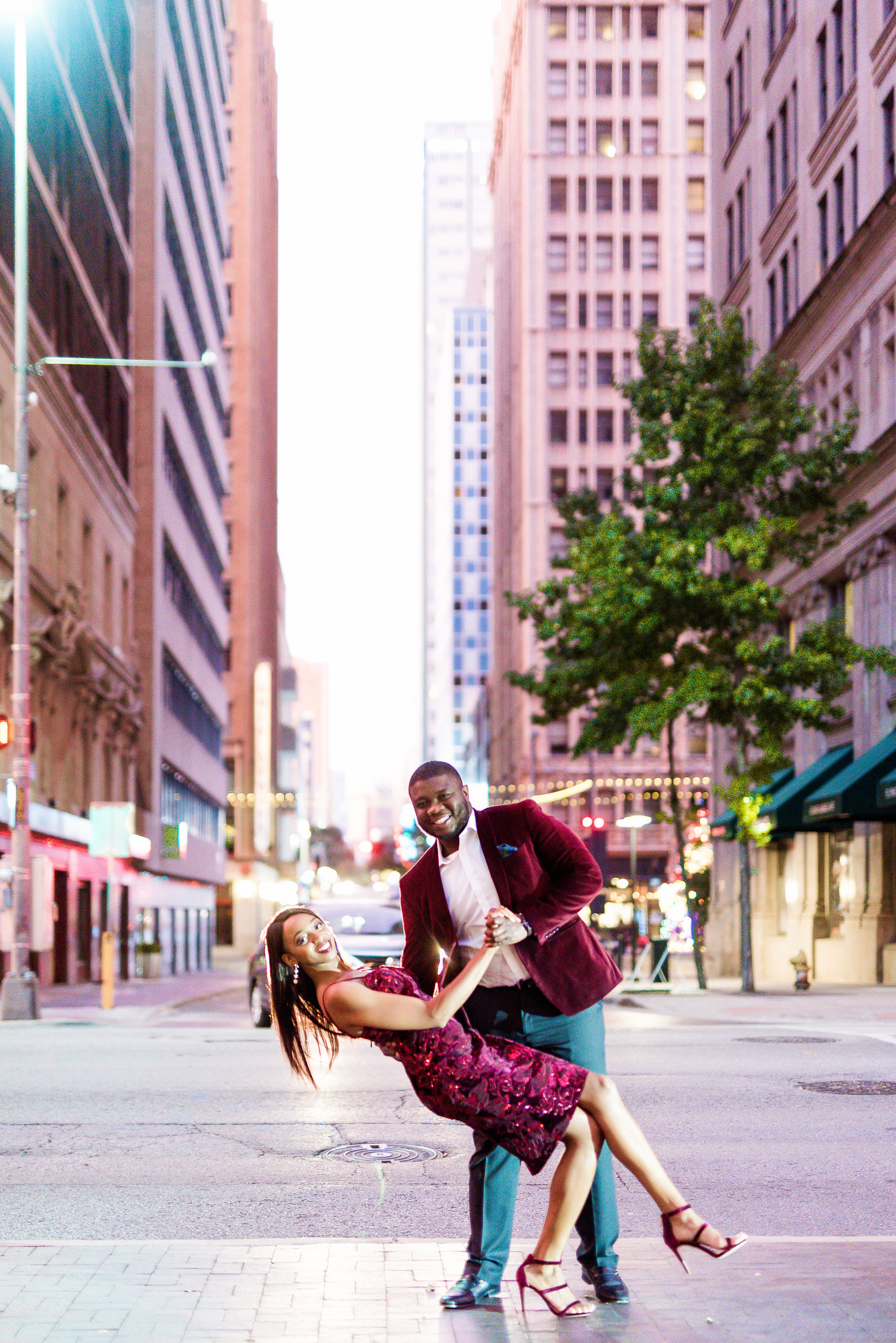 Engagement Session- Pharris Photography- Downtown Dallas- Dallas Engagement- Sona and Deji