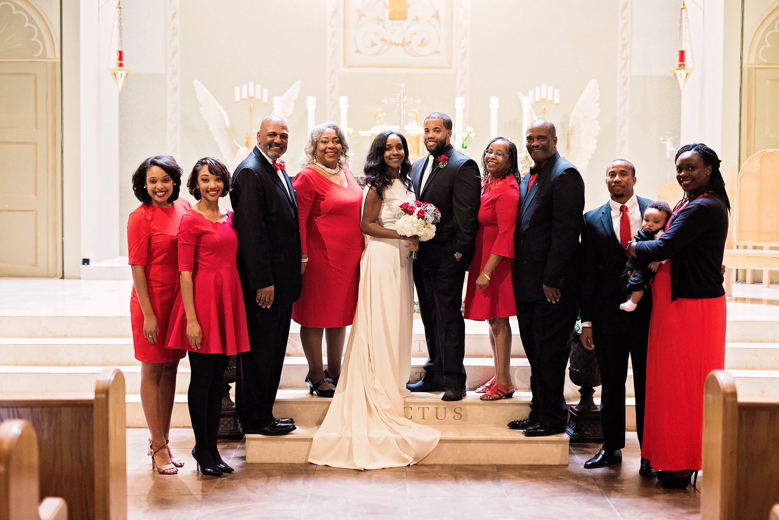 Southern Bride Magazine- Pharris Photography- Eshe and Kareen- Texas Wedding- Wedding Party
