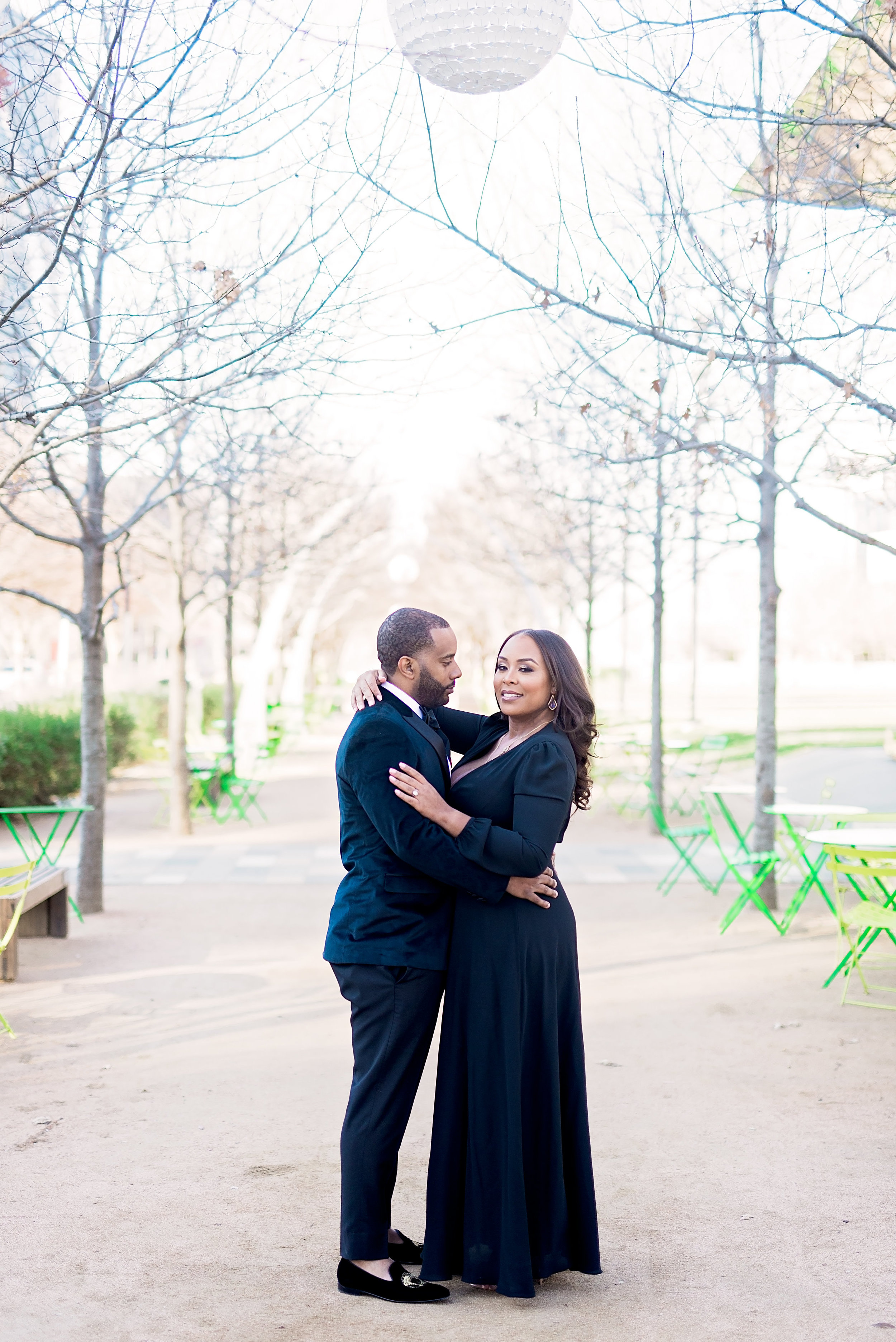 Klyde Warren Park- Dallas Engagement- Pharris Photography- Dorian and Chauncy- Texas Photography