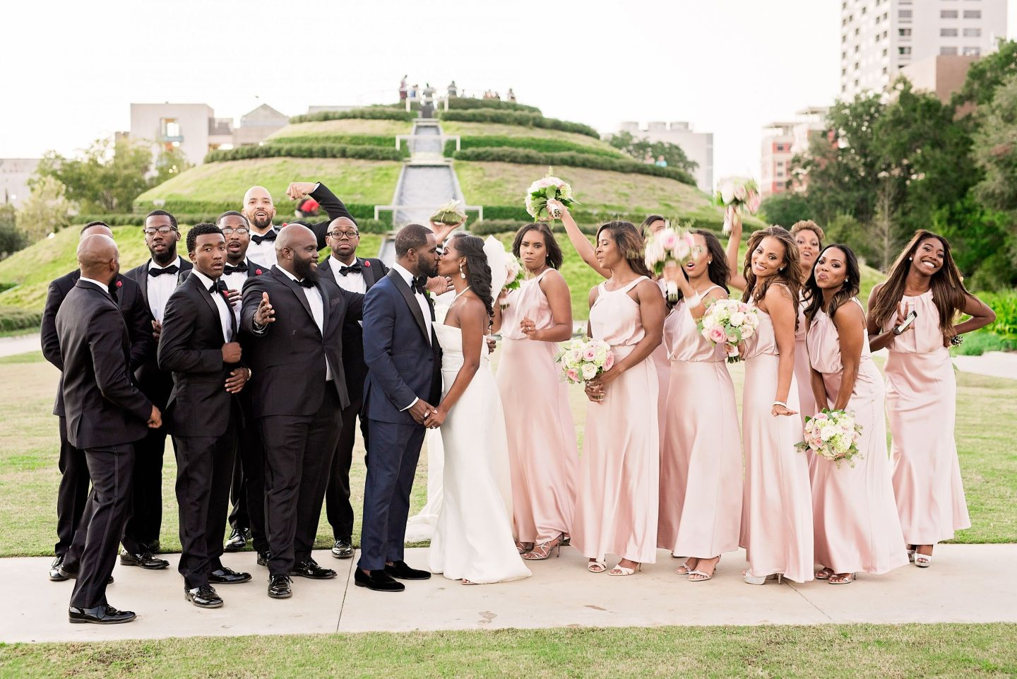 Black Southern Belle- Texas Wedding- Pharris Photography- Gina + Andre- Wedding Party