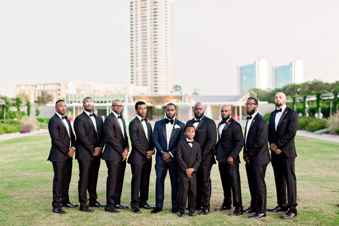 Black Southern Belle- Texas Wedding- Pharris Photography- Gina + Andre- Groomsmen