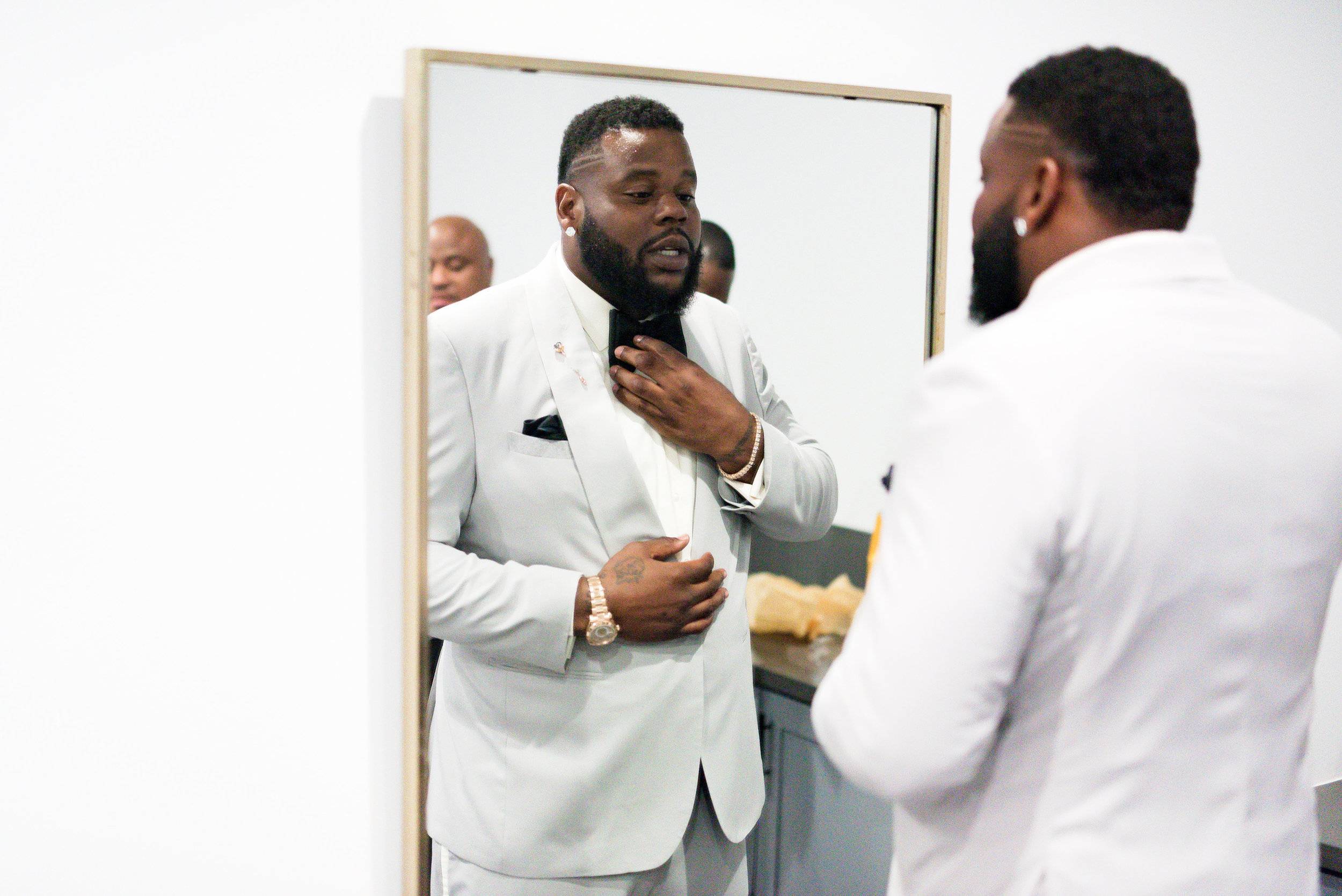 Houston Wedding- Pharris Photography- Kisha + Shaun- Groom- Getting Ready