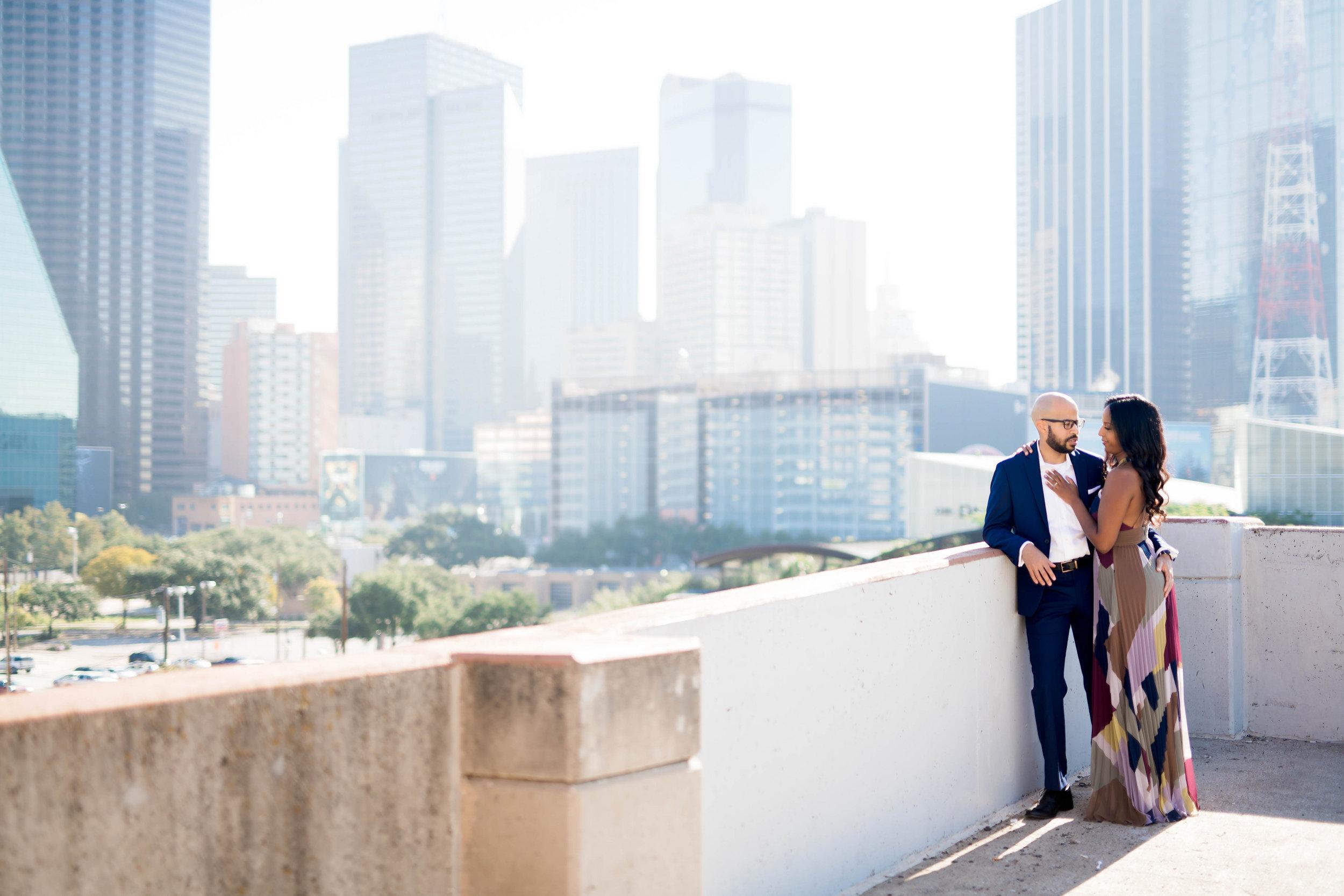 Pharris Photography- Engagement Shoot- Rooftop Engagement- Sophia + Ahmed- Cityscape