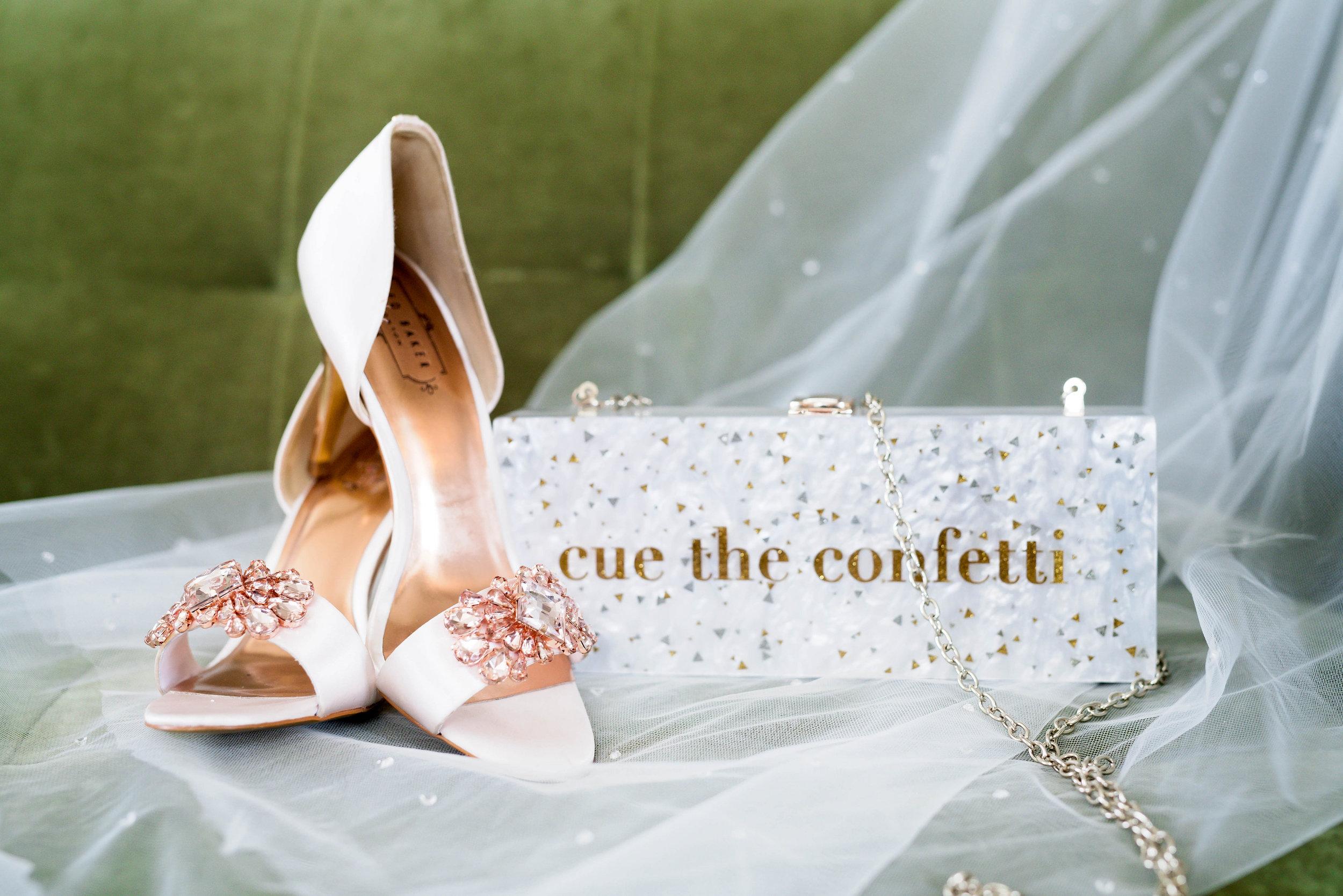 Houston Wedding- Pharris Photography- Nicole + Mike- Shoes- Clutch