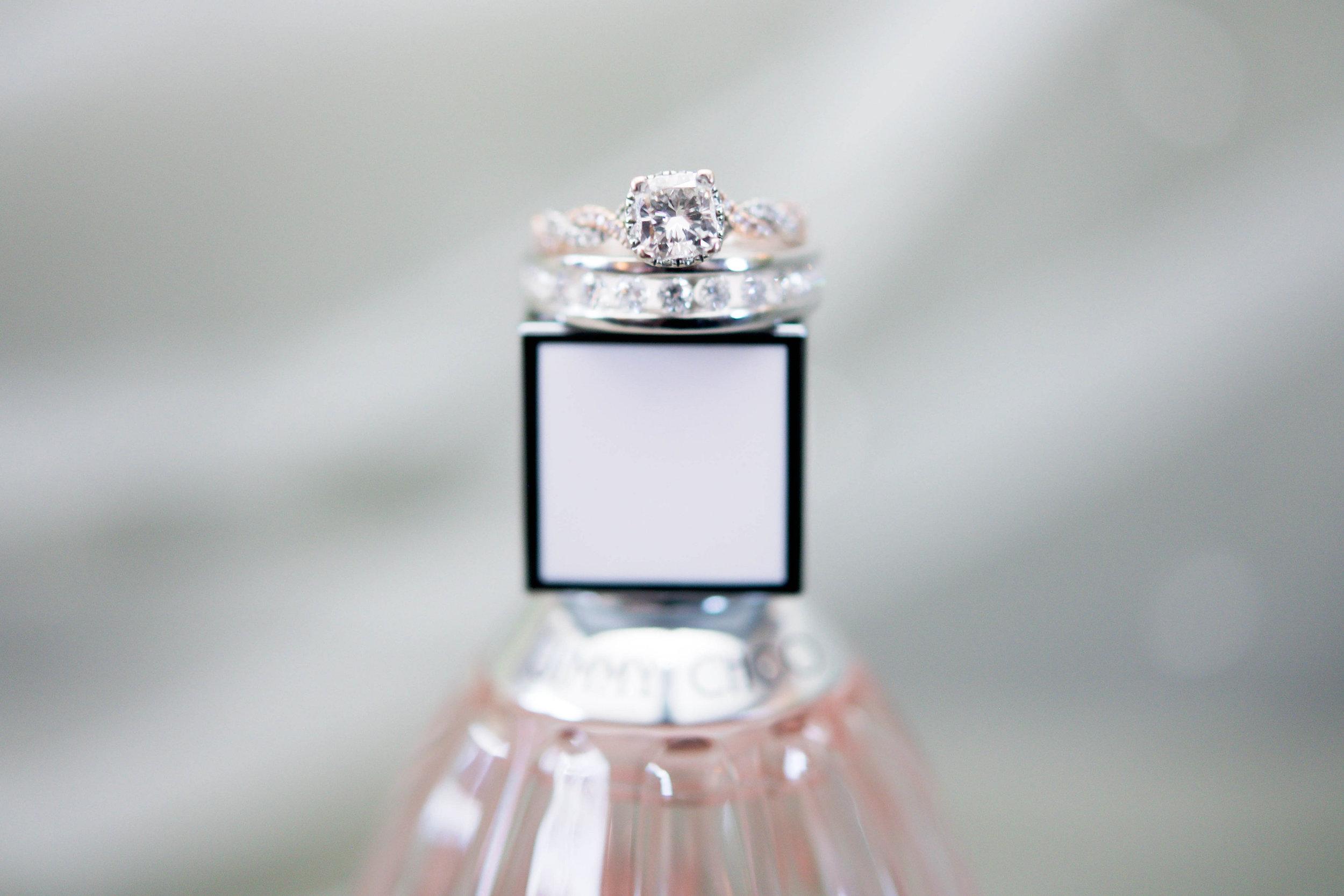 Houston Wedding- Pharris Photography- Nicole + Mike- Wedding Details- Perfume Bottle- Wedding Rings