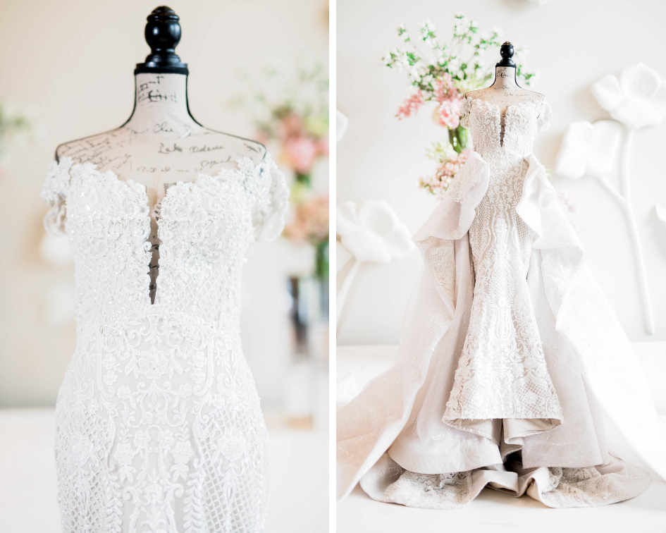 Dallas Wedding- Pharris Photography- Juliet + Elvis- Custom Wedding Dress- Bridal Gown- Lace Wedding Dress