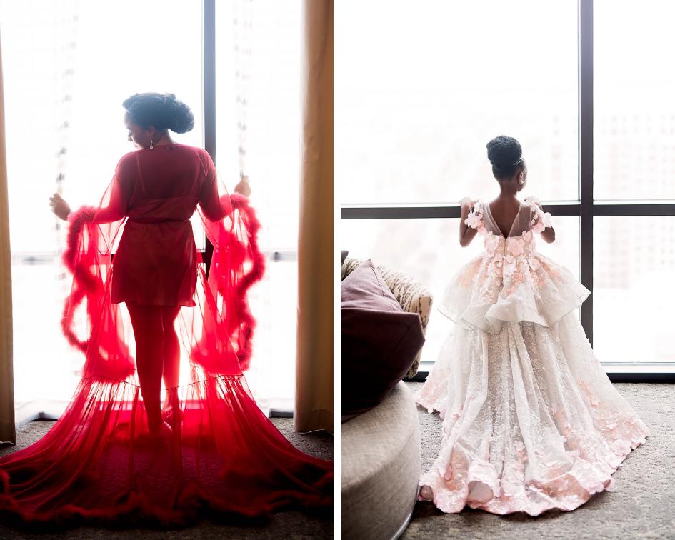 Dallas Wedding- Pharris Photography- Juliet + Elvis- Getting Ready- Bride- Custom Gown