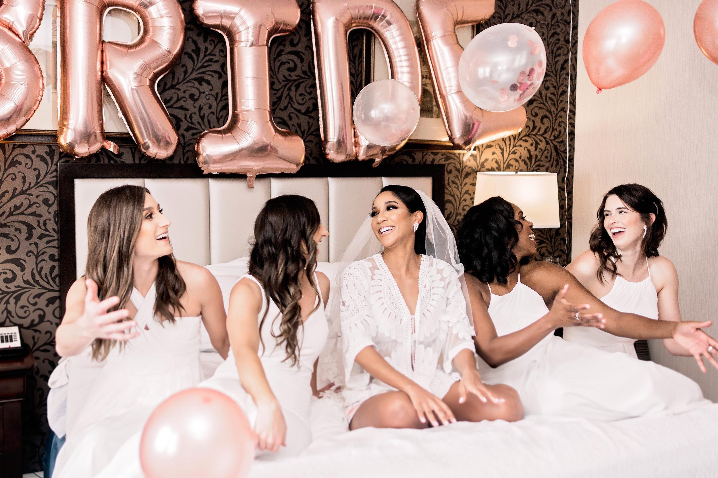 Houston Wedding- Pharris Photography- Getting Ready- Natalie + Mark- Bridesmaids- Bridal Party