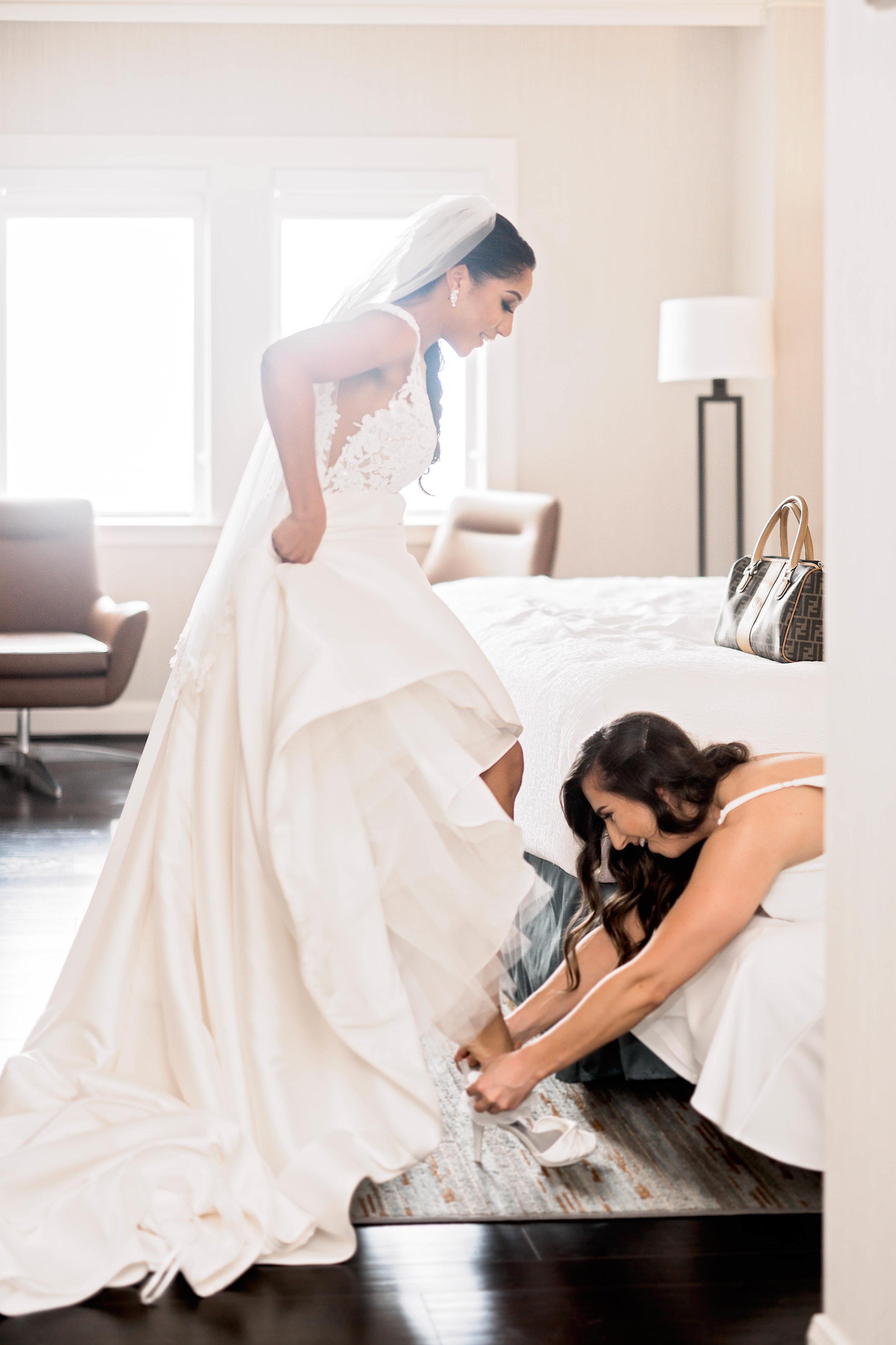 Houston Wedding- Pharris Photography- Getting Ready- Natalie + Mark- Bride- Shoes