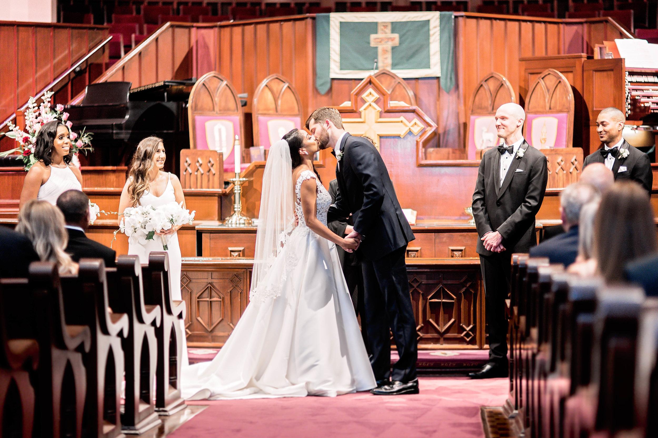 Houston Wedding- Pharris Photography- Ceremony- Natalie + Mark- First Kiss