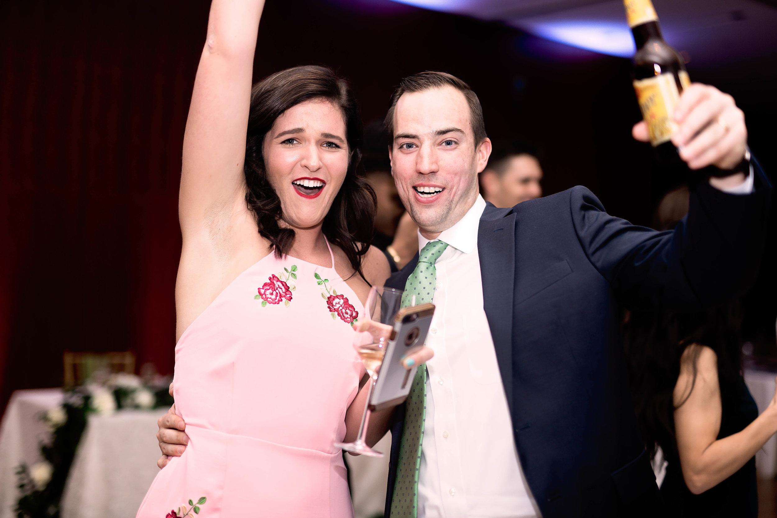 Houston Wedding- Pharris Photography- Reception- Natalie + Mark- Bouquet & Garter Toss Winners