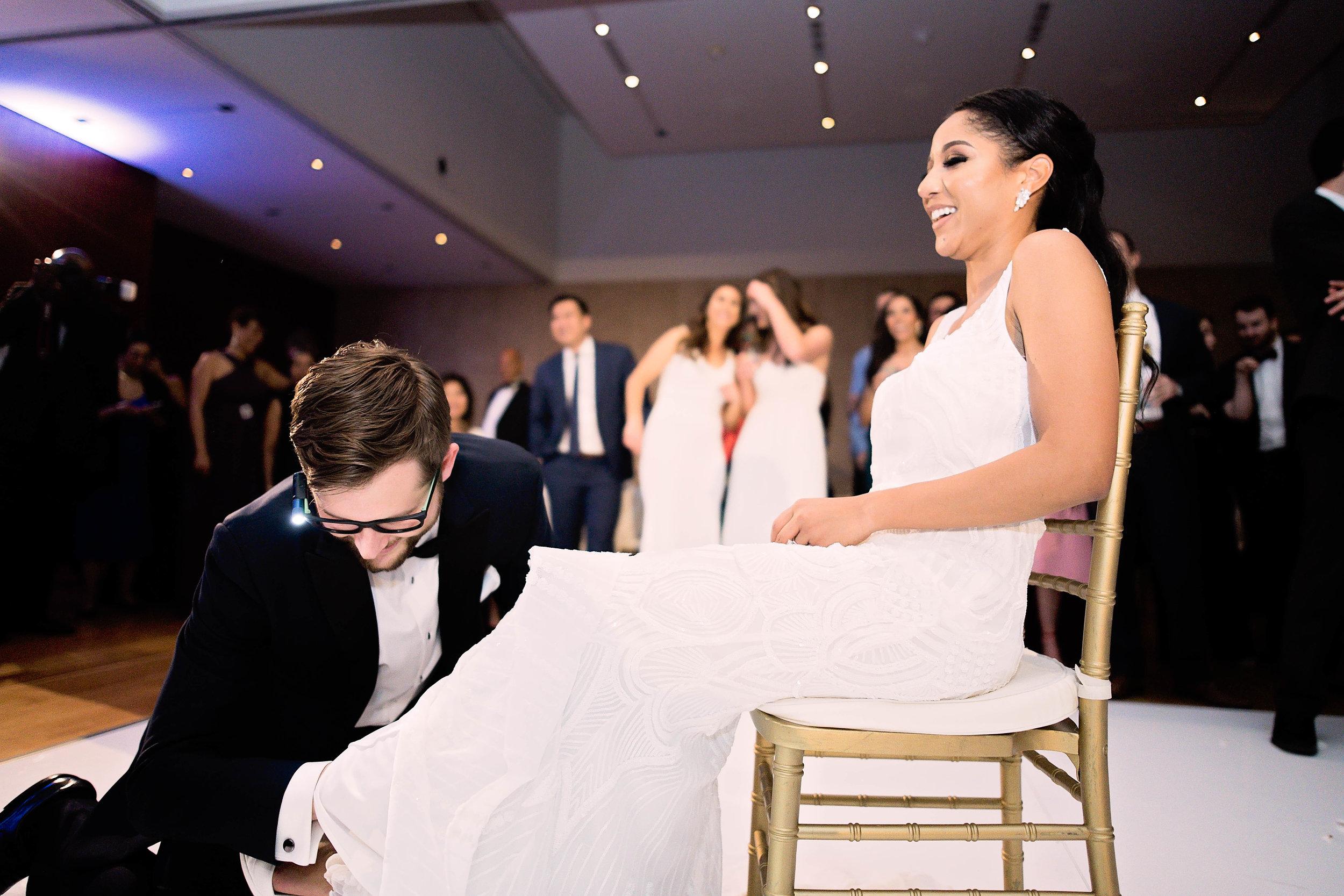 Houston Wedding- Pharris Photography- Reception- Natalie + Mark- Garter Toss