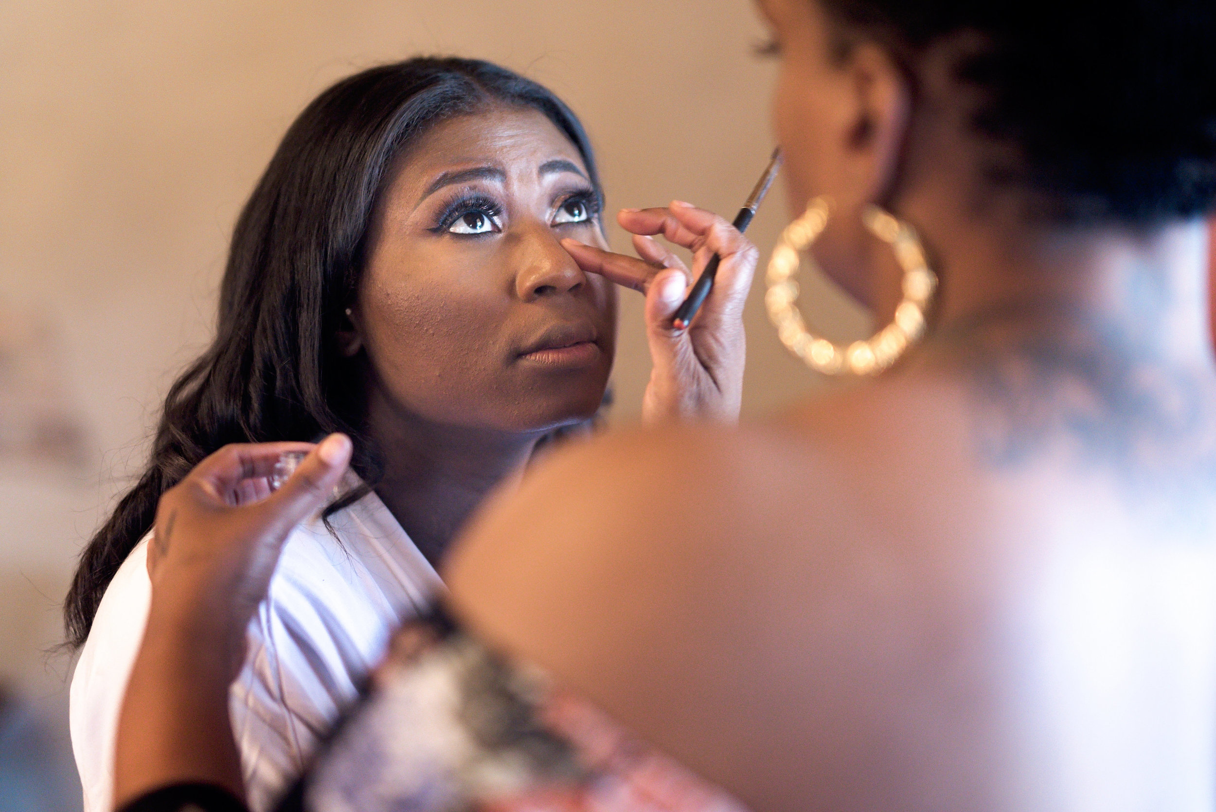 New Braunfels Wedding- Pharris Photography- Getting Ready- Adrianna + Kevin- Bride- Makeup