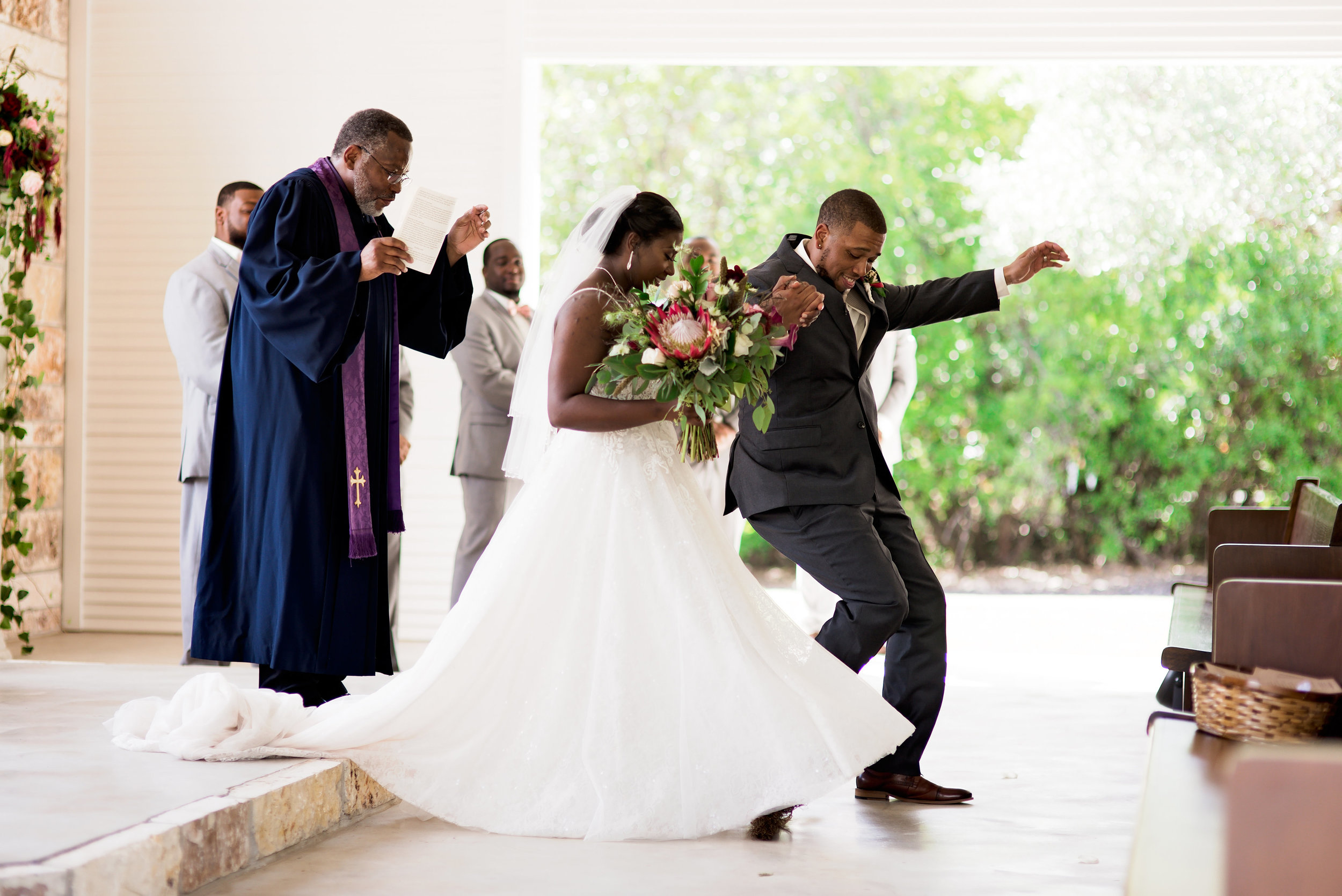 New Braunfels Wedding- Pharris Photography- Ceremony- Adrianna + Kevin- Jumping the Broom