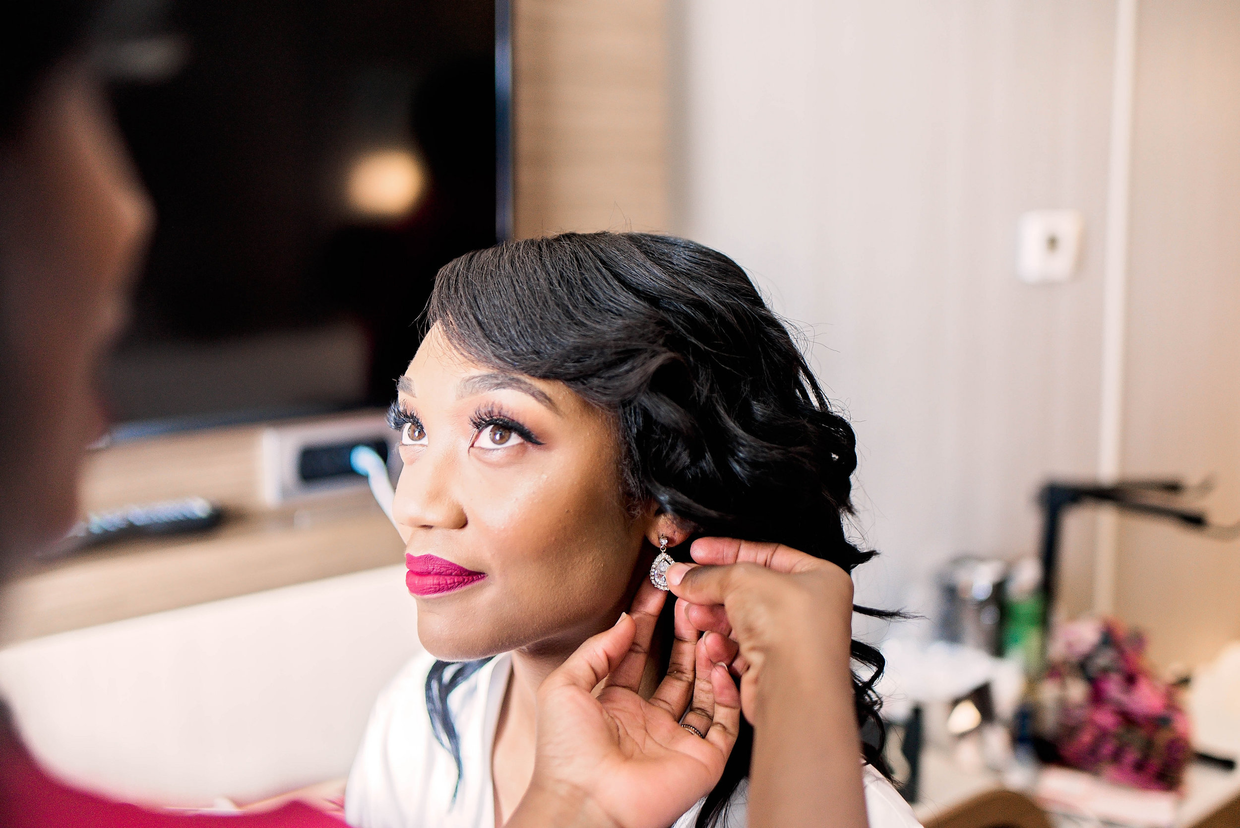 Dallas Wedding- Pharris Photography- Getting Ready- Aaqila + Najee - Bride