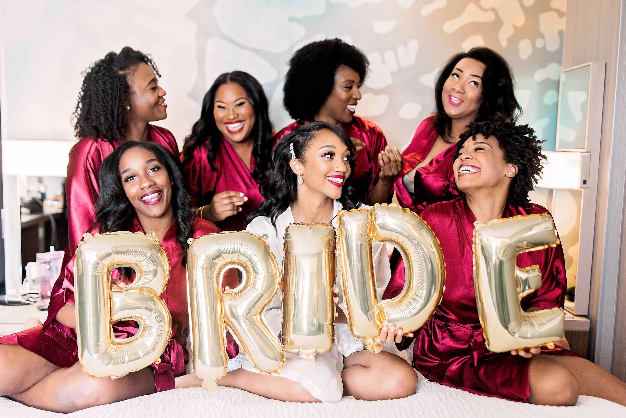 Dallas Wedding- Pharris Photography- Getting Ready- Aaqila + Najee- Bridesmaids