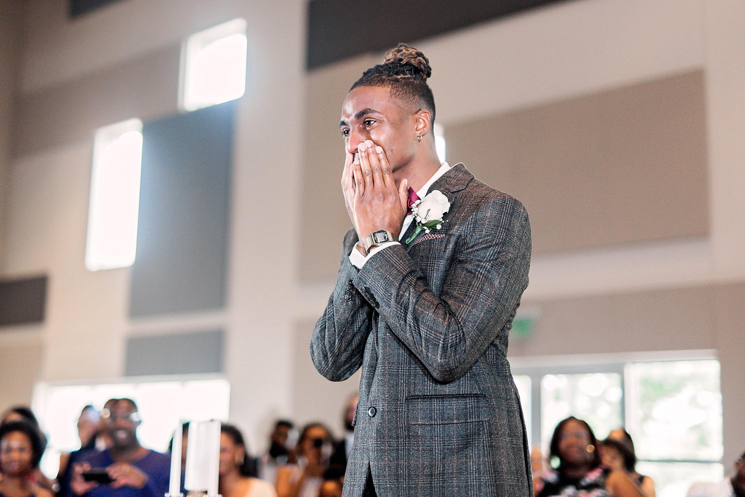 Dallas Wedding- Pharris Photography- Ceremony- Kaimyn + Ezra- Groom