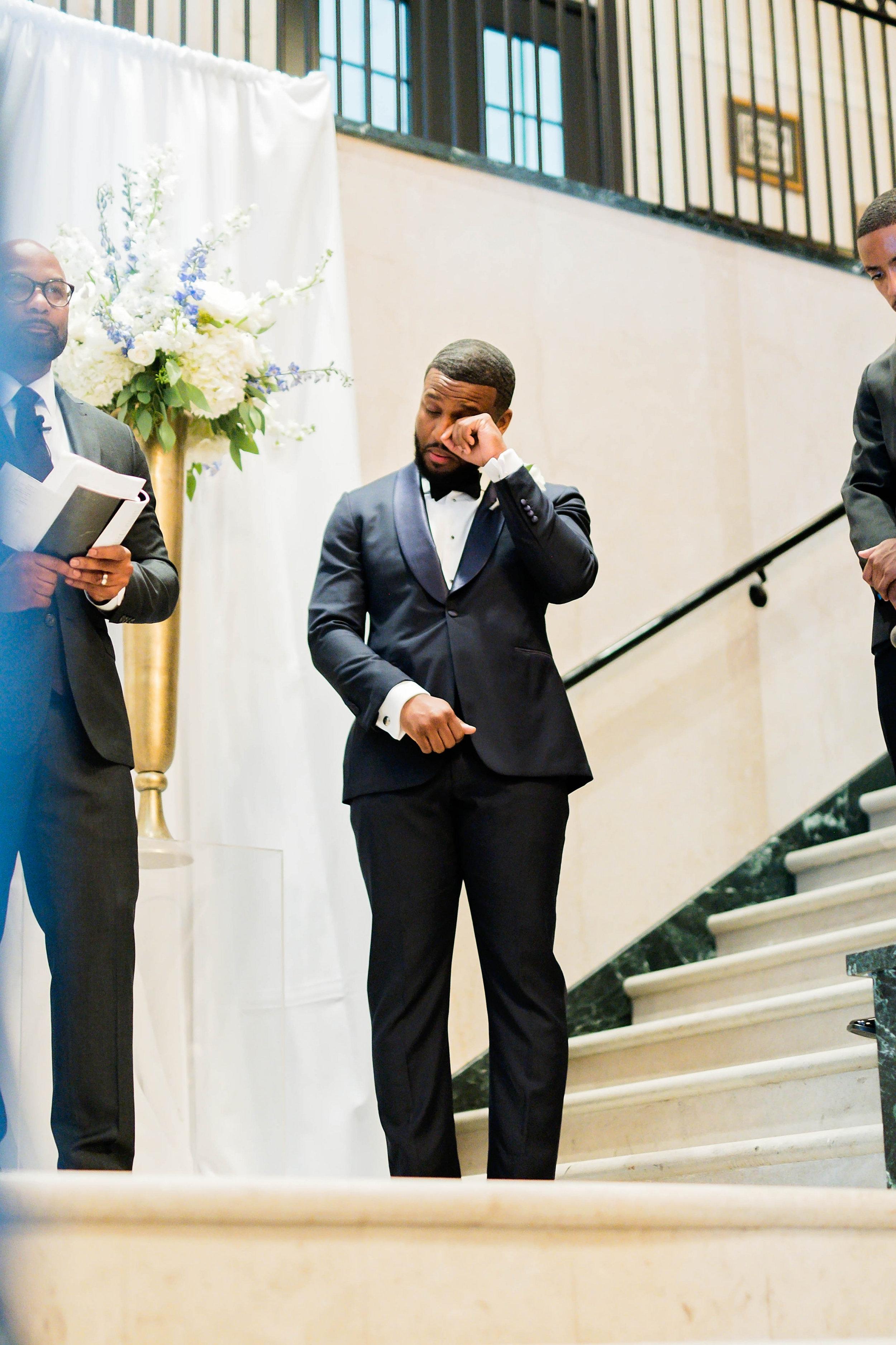 Tulsa Wedding- Pharris Photography- Ceremony- Darla + Quinton- Groom- The Altar