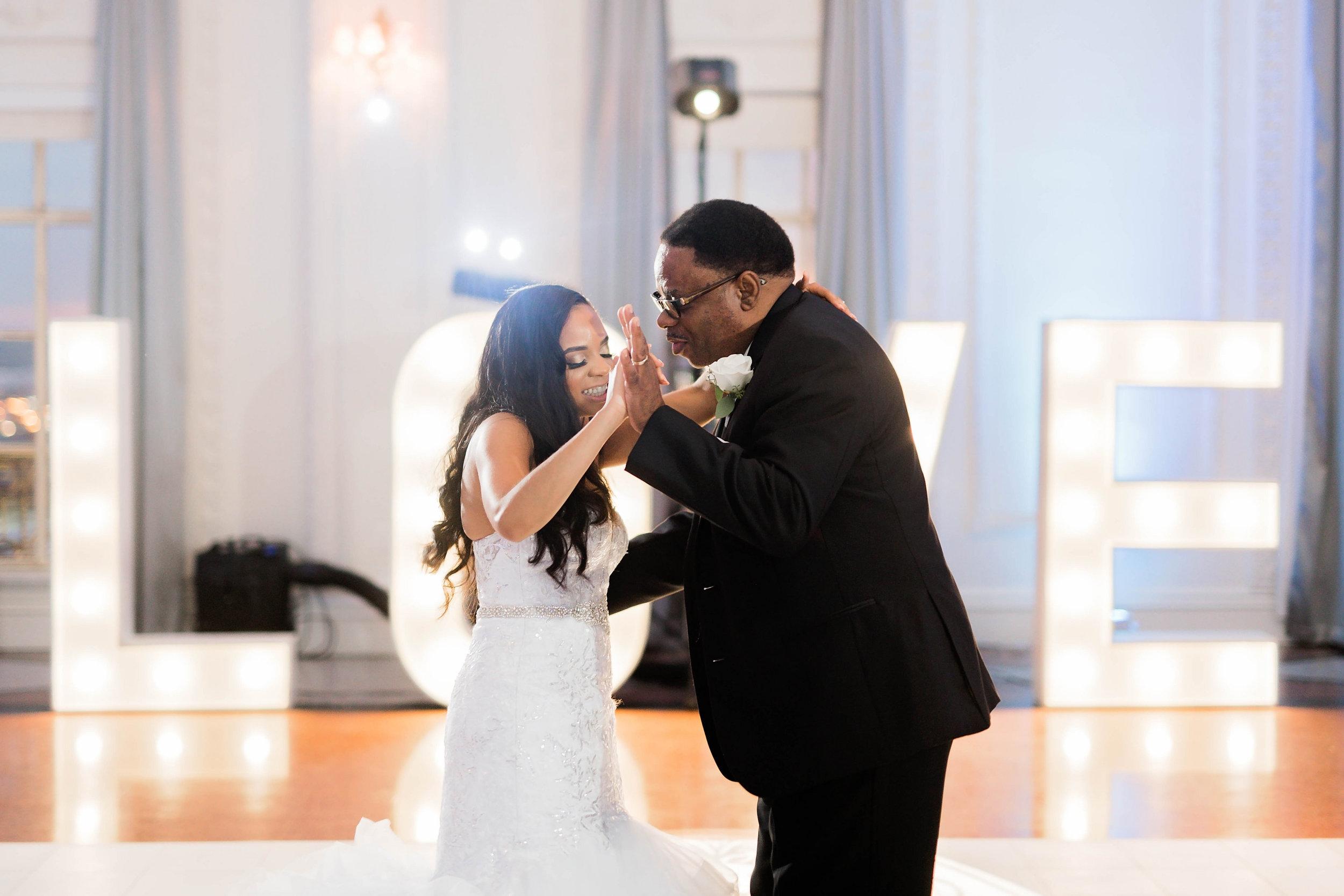 Tulsa Wedding- Pharris Photography- Reception- Darla + Quinton- Daddy Daughter Dance