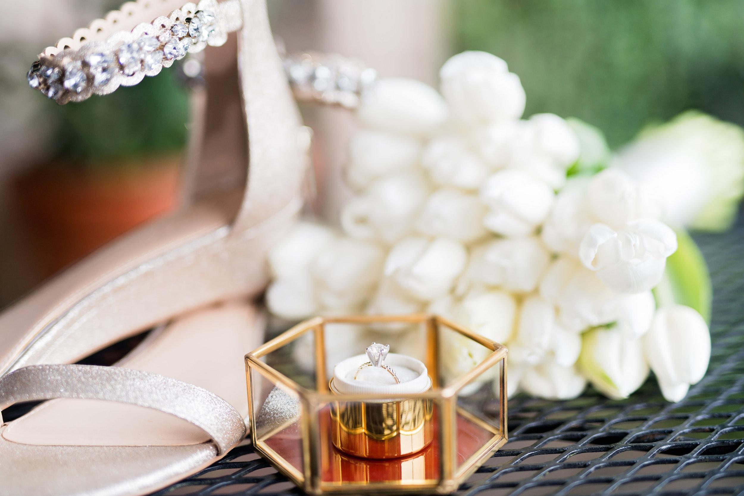 Houston Wedding- Pharris Photography- Details- Kristin + Robert- Shoes- Wedding Ring