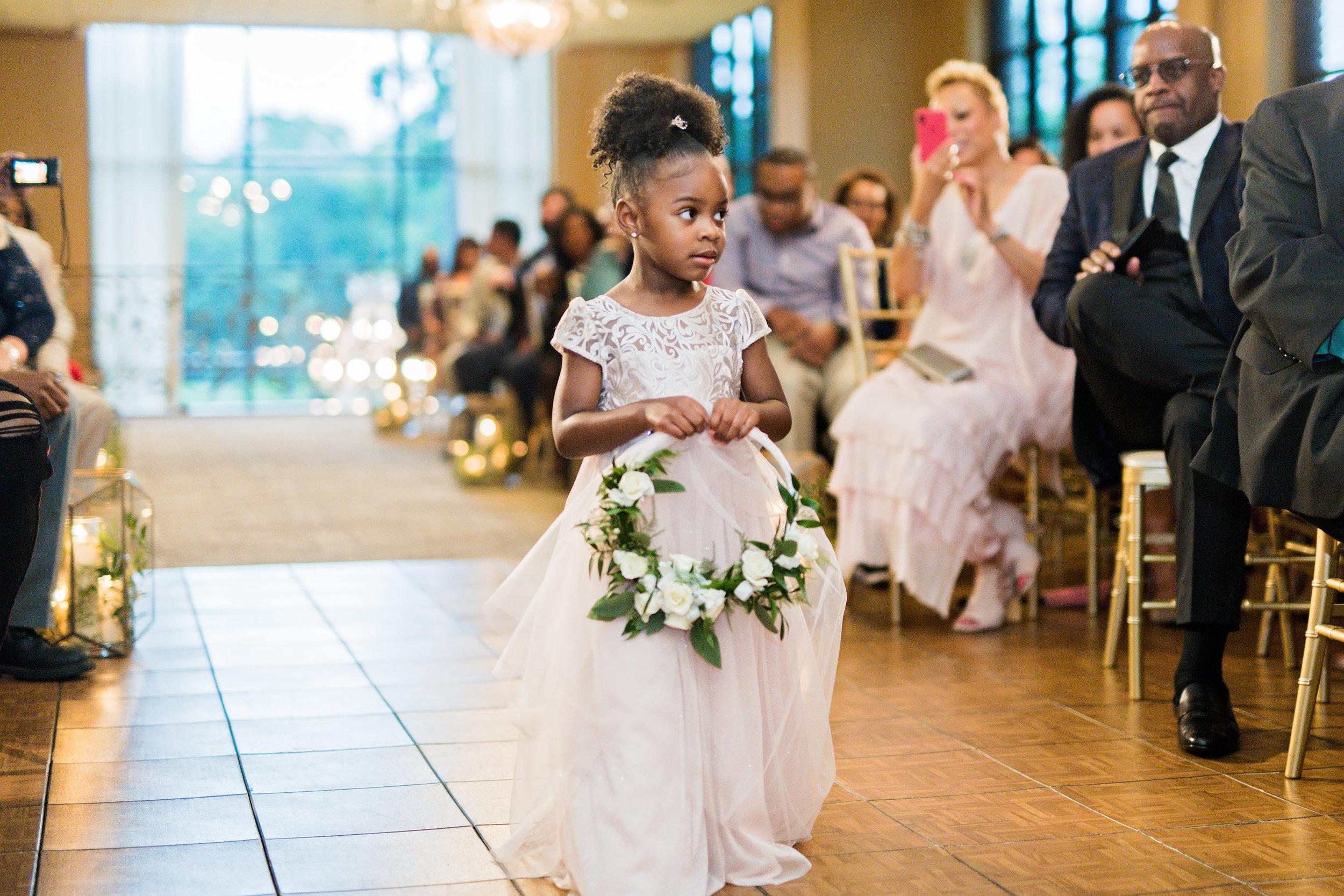 Houston Wedding- Pharris Photography- Ceremony- Kristin + Robert- Flower Girl