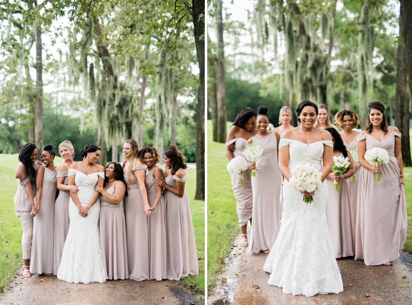 Houston Wedding- Pharris Photography- Ceremony- Kristin + Robert- Bride & Bridesmaids