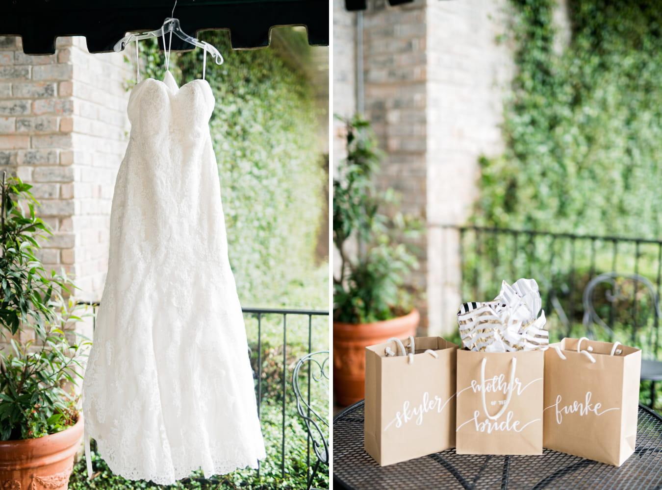 Houston Wedding- Pharris Photography- Details- Kristin + Robert- Wedding Dress- Gifts