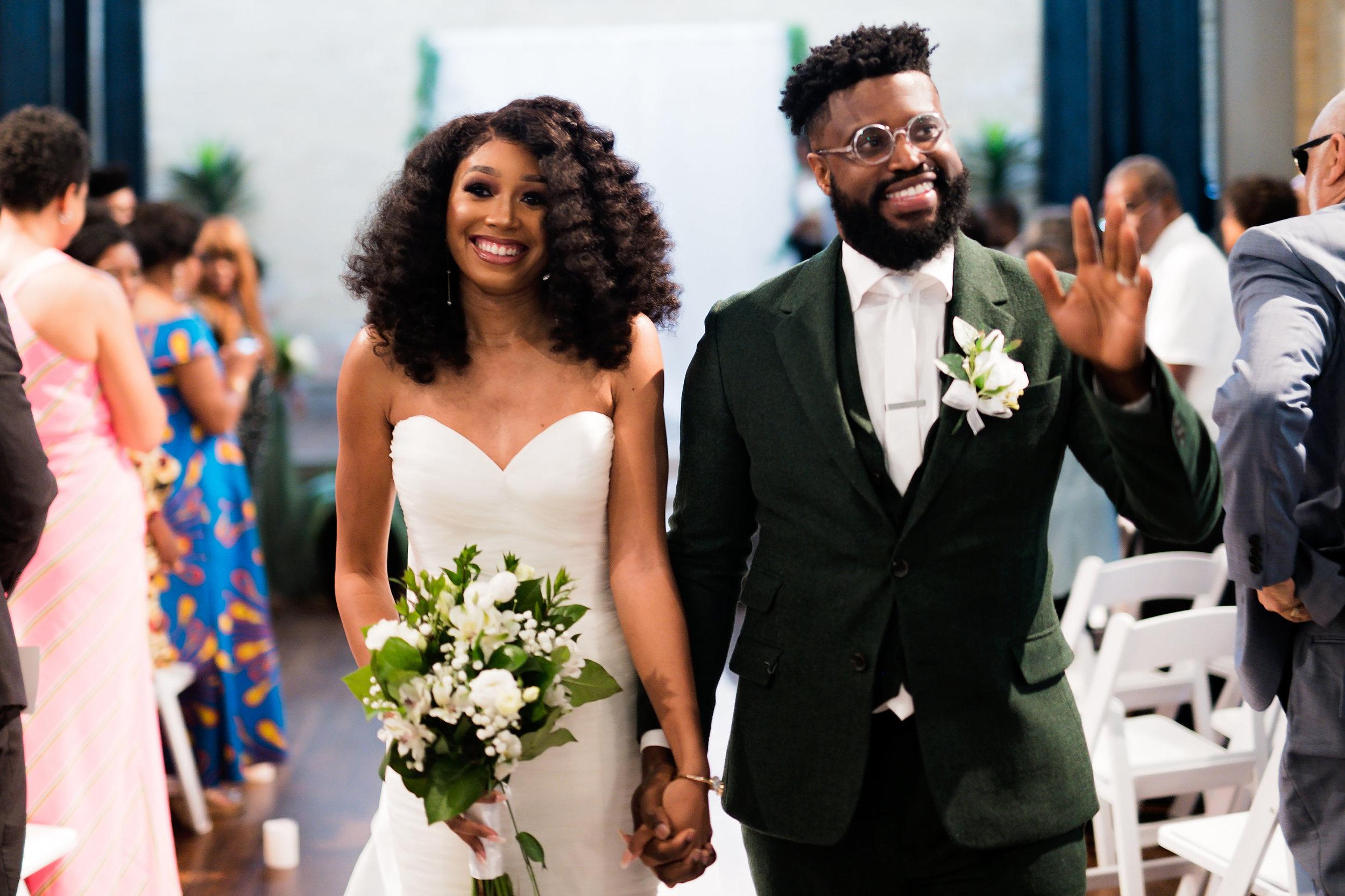 Houston Wedding- Pharris Photography- Ceremony- Lorece + Jeremy- Just Married