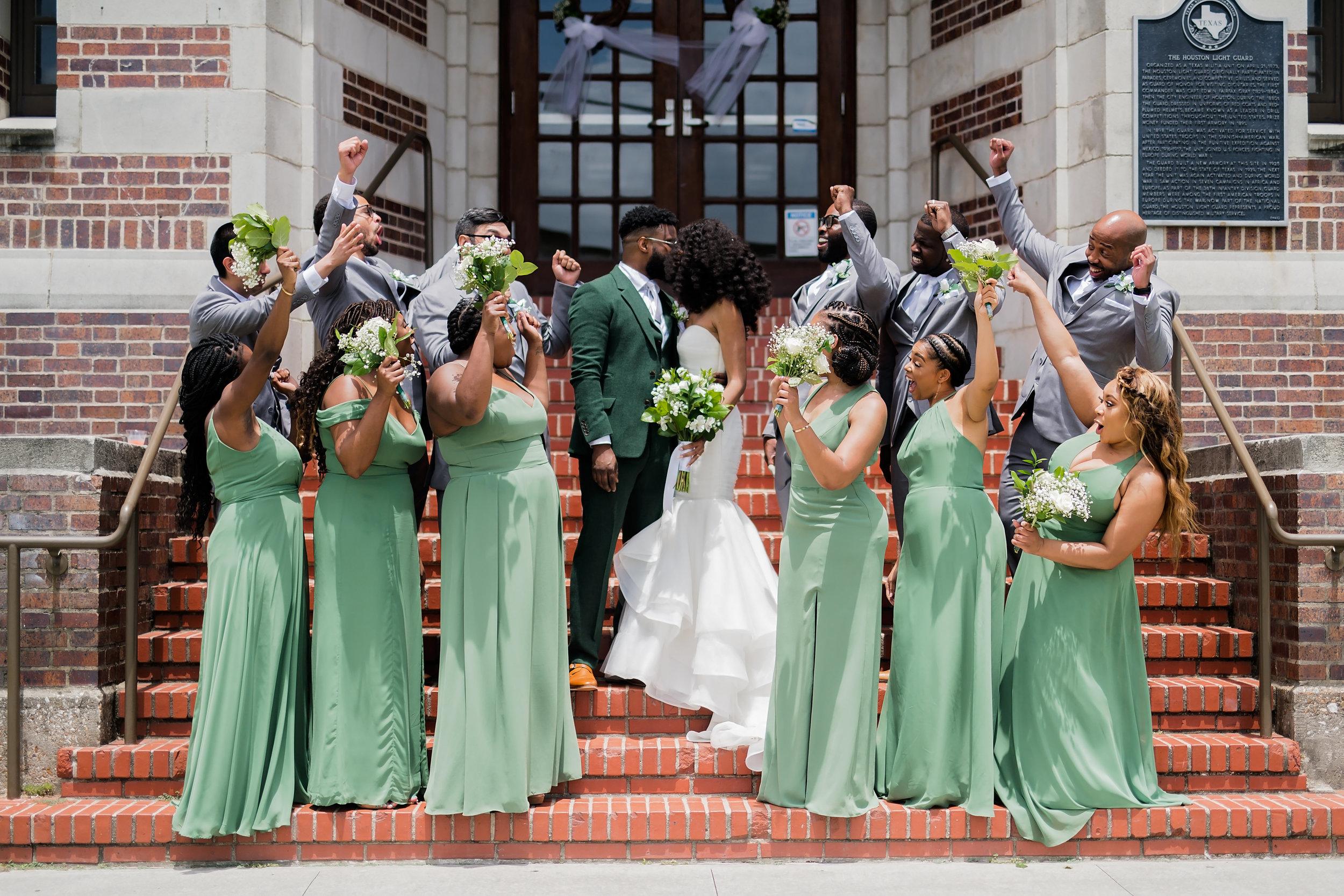 Houston Wedding- Pharris Photography- Ceremony- Lorece + Jeremy- Wedding Party