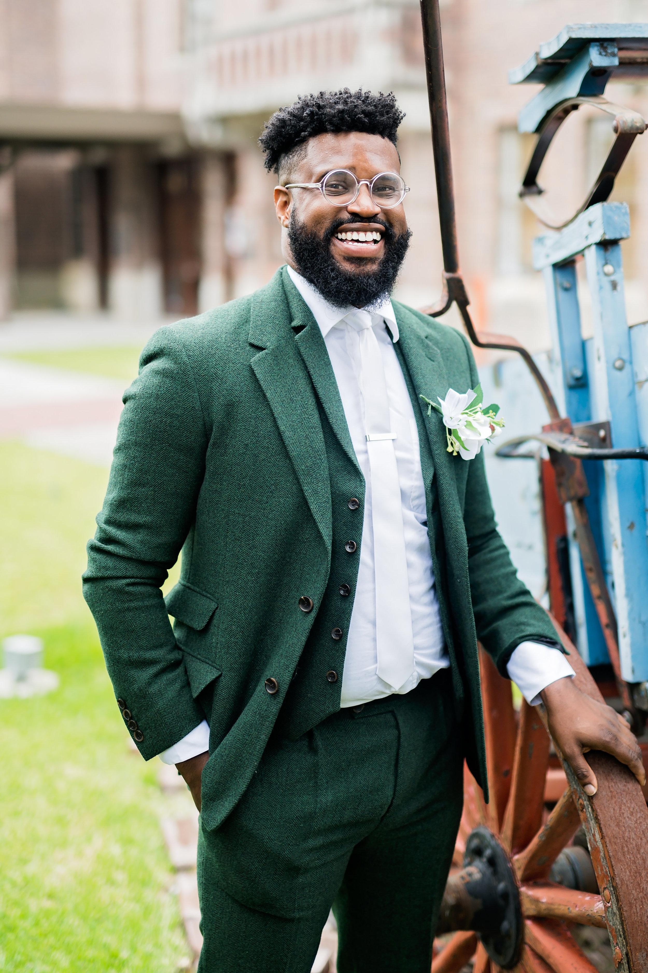 Houston Wedding- Pharris Photography- Bridal Party- Lorece + Jeremy- Groom