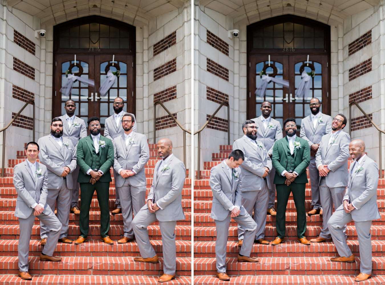 Houston Wedding- Pharris Photography- Bridal Party- Lorece + Jeremy- Groom & Groomsmen