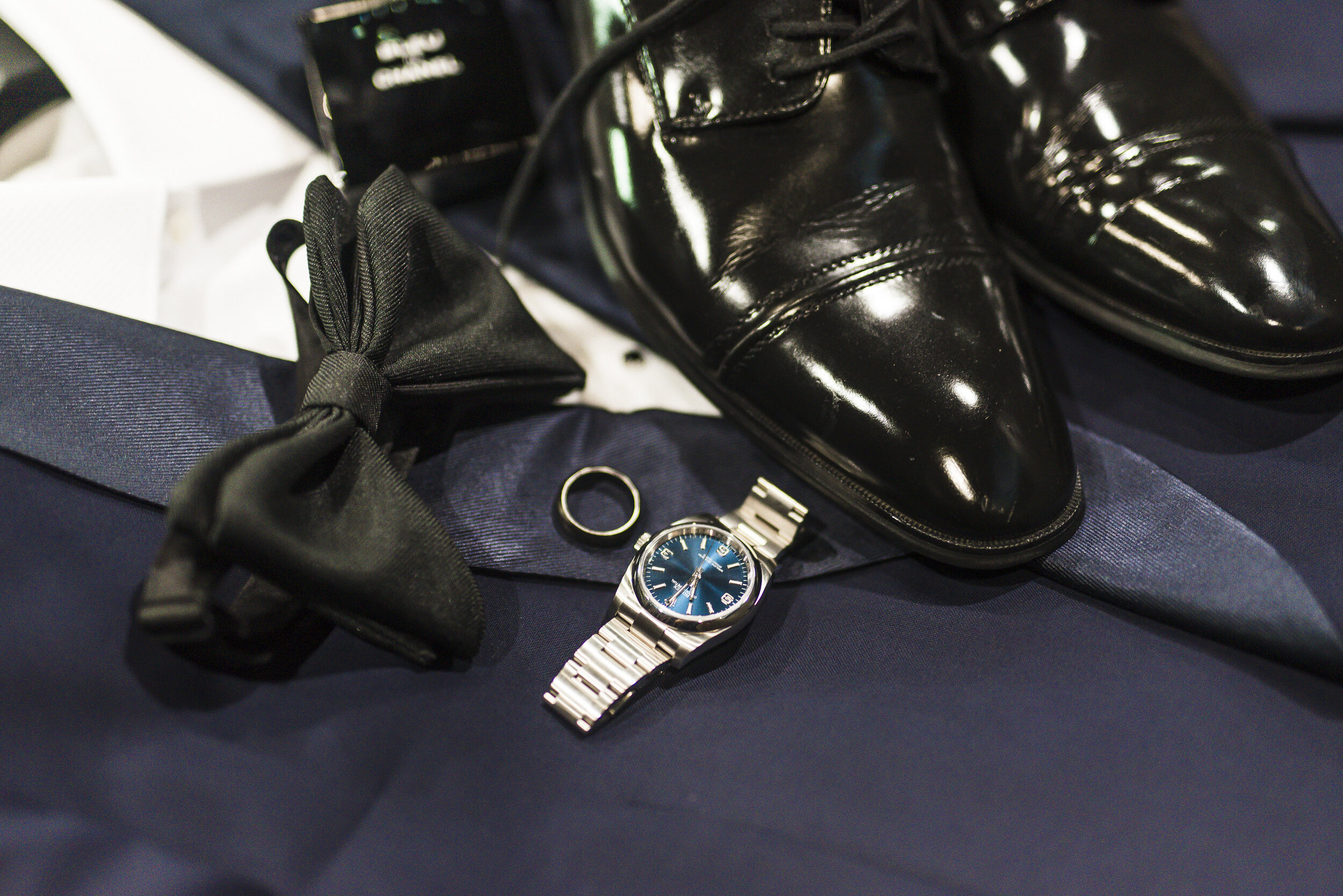 Dallas Wedding- Pharris Photography- Getting Ready- Details- Alexiss + Chaz- Groom- Shoes- Tie- Watch