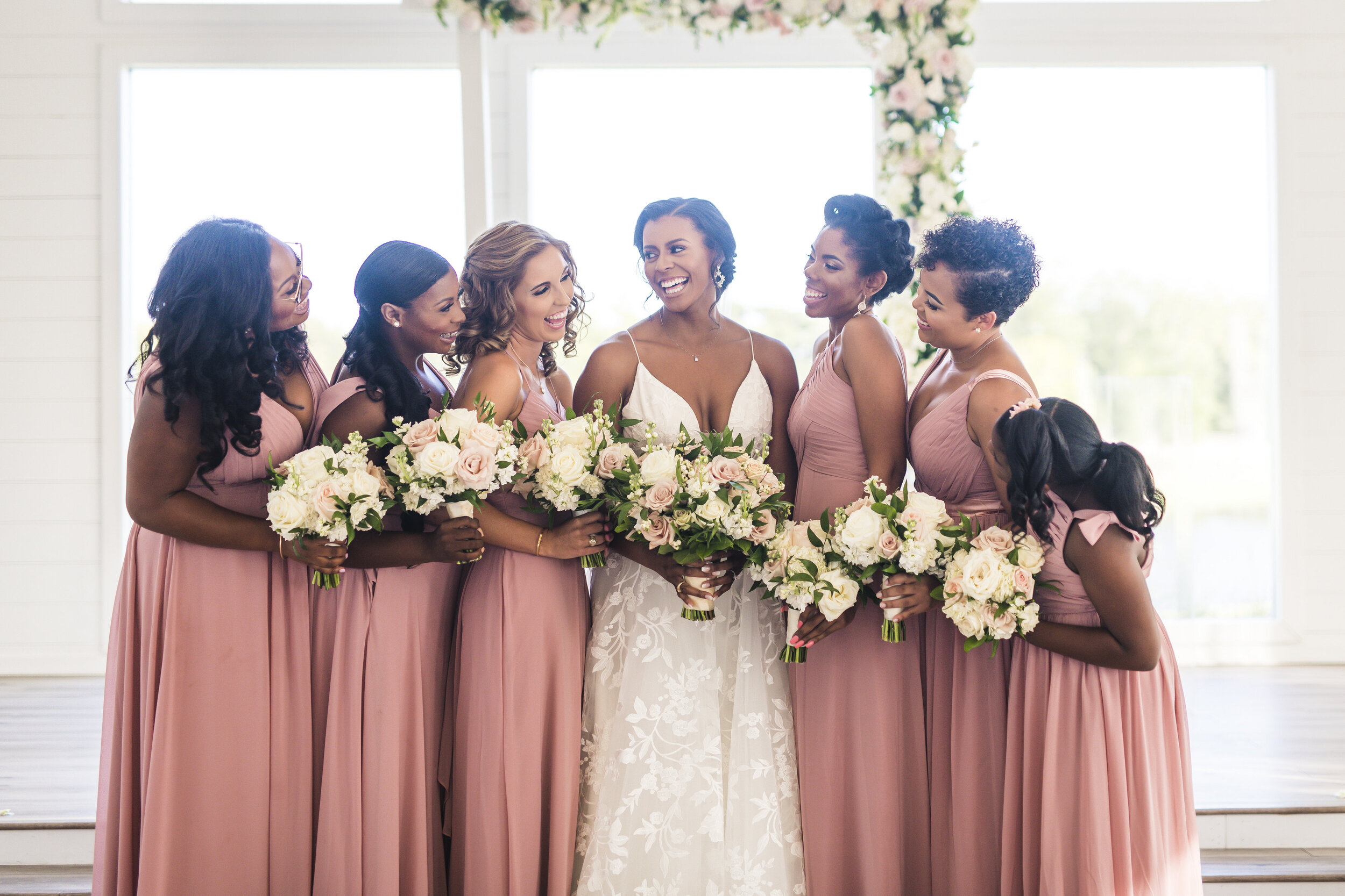Dallas Wedding- Pharris Photography- Ceremony- Alexiss + Chaz- Bride and Bridesmaids