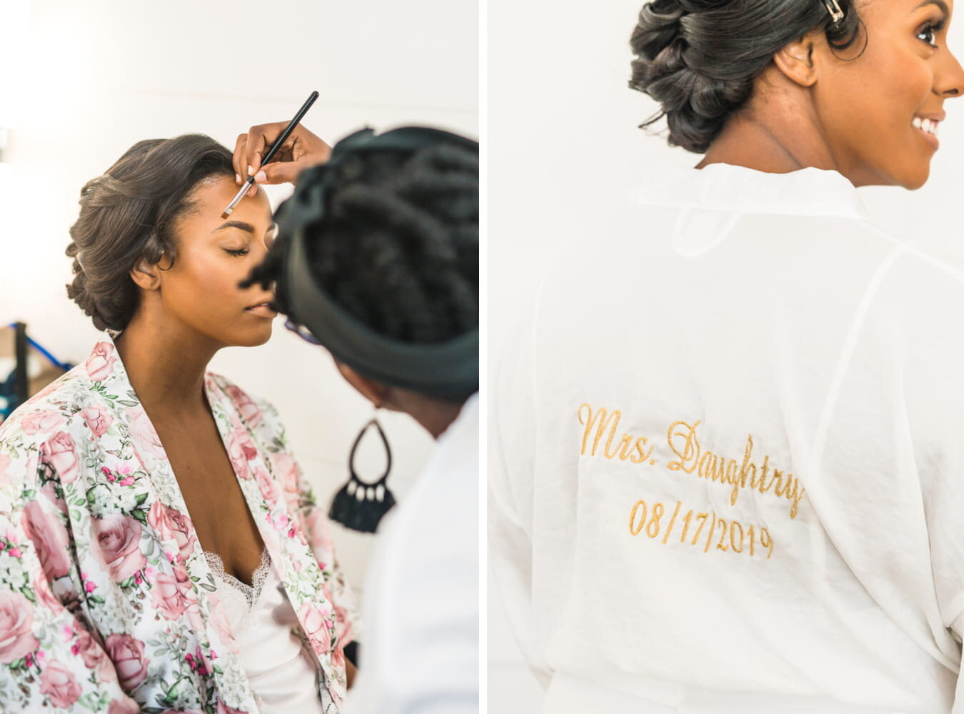 Dallas Wedding- Pharris Photography- Getting Ready- Alexiss + Chaz -Bride Makeup