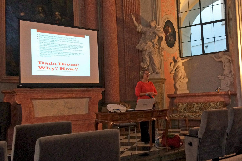 Lecturing in the Corpus Christi Chapel in Olomouc, Czech Republic