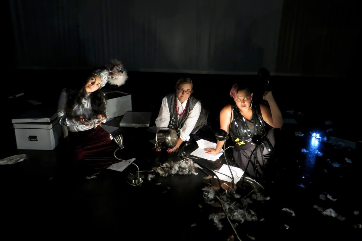 With Carmina Escobar and Micaela Tobin in Monterrey, Mexico