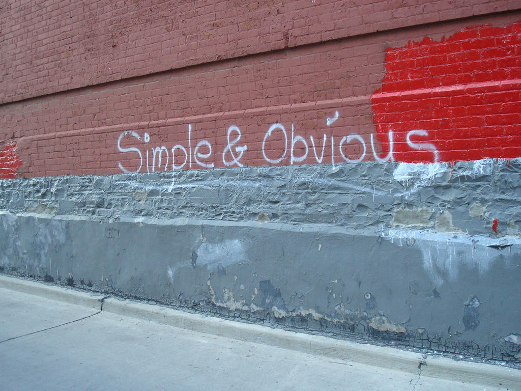 Keep it simple and obvious. You're trying to communicate an idea, not impress people with your advanced vocabulary. Photo: Emma Jane Hogbin Westby via  Flickr .