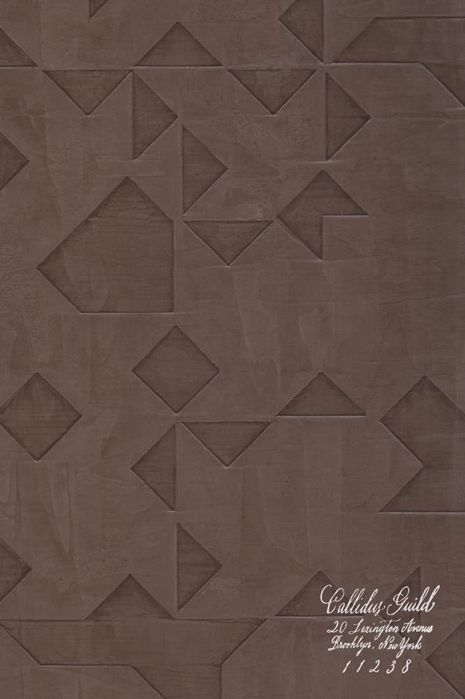 WP-1240 Folded Origami - Chocolate