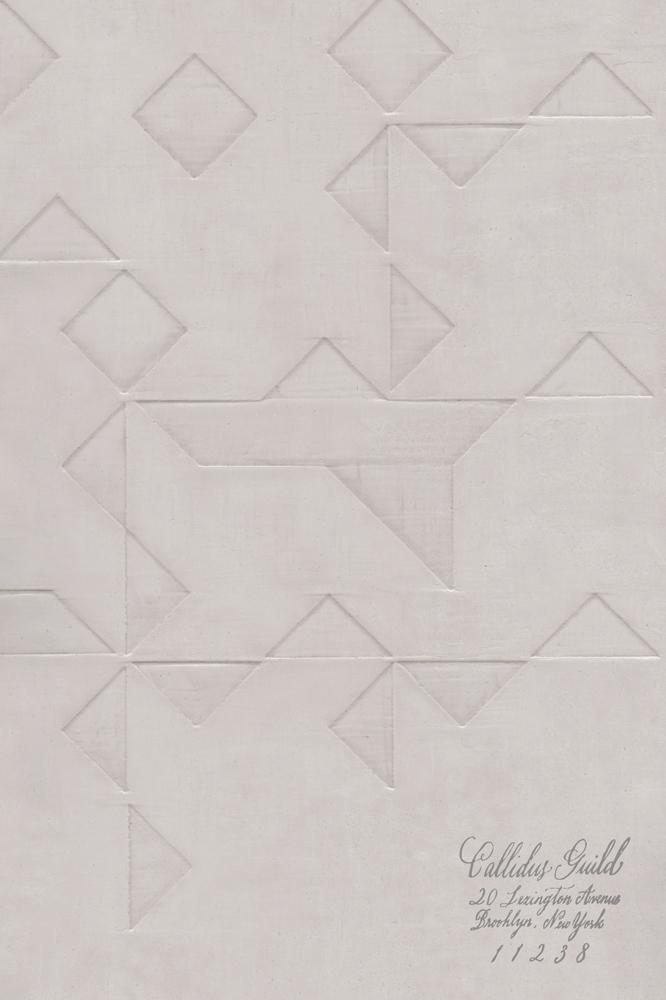 WP-1216 Folded Origami - French Grey