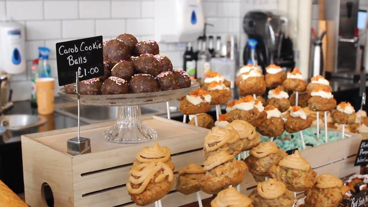 Dog friendly treats called Pug Cakes and Woofins are being served at Esquires Coffee Shop for the Pop Up Pug Cafe in Guildford.