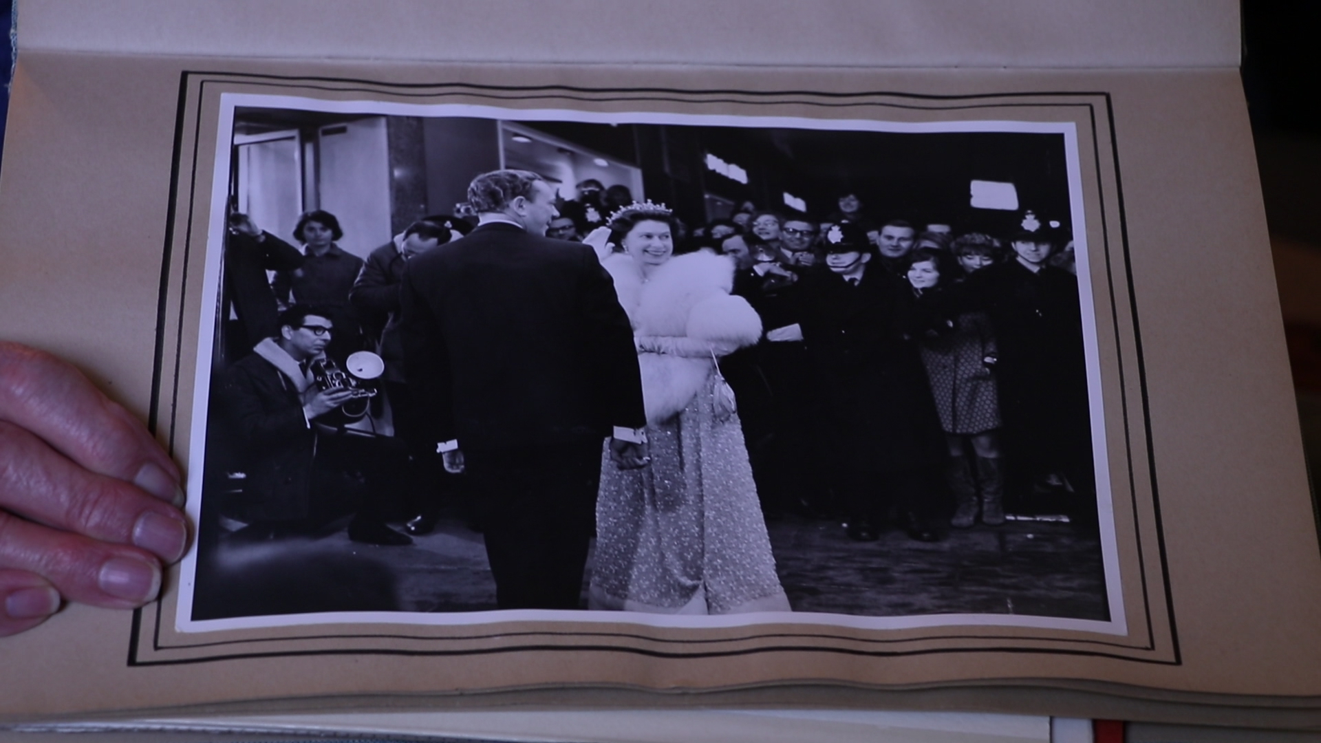 Her Majesty Queen Elizabeth the 2nd visits the Guildford Odeon Cinema.