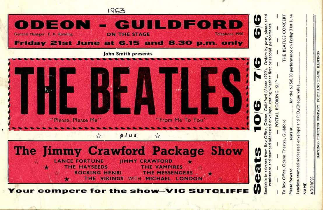 On Friday 21st of June 1963, the Guildford Odeon was visited by none other than The Beatles themselves to play a concert that included hits such as Please Please Me and I Saw Her Standing There.